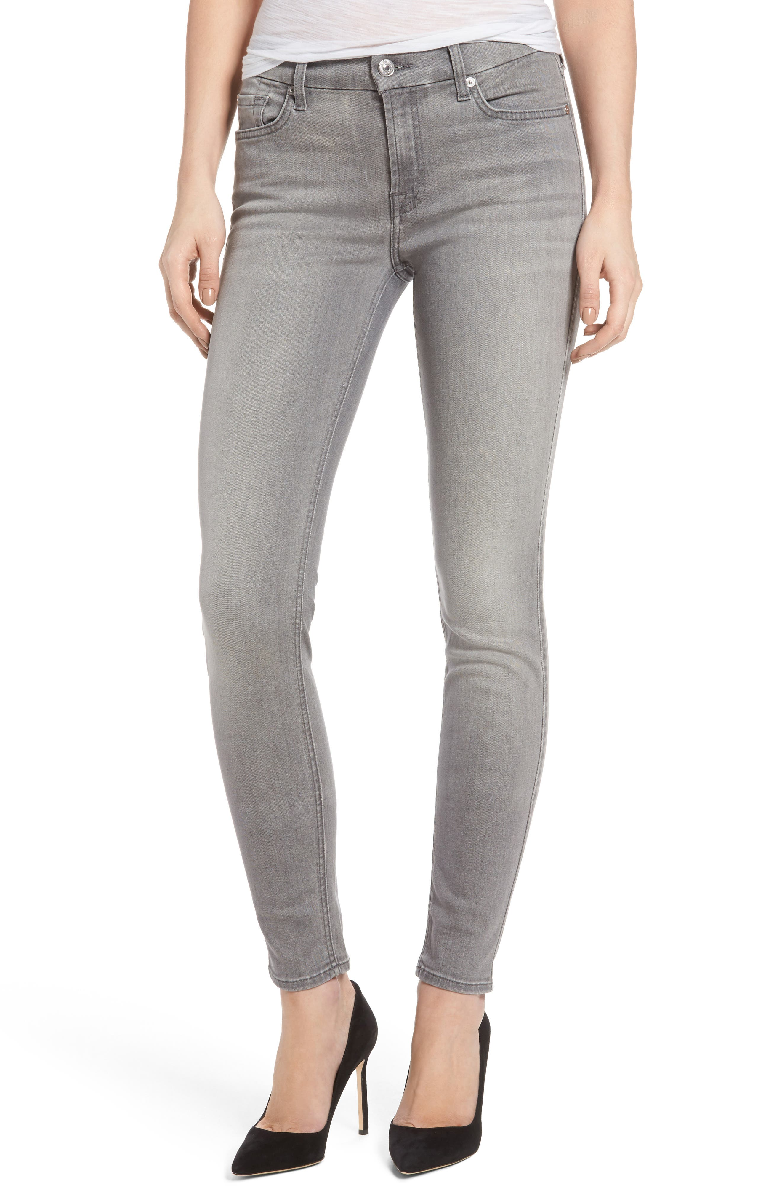 7 For All Mankind® b(air) Skinny Jeans (Chrysler Grey)