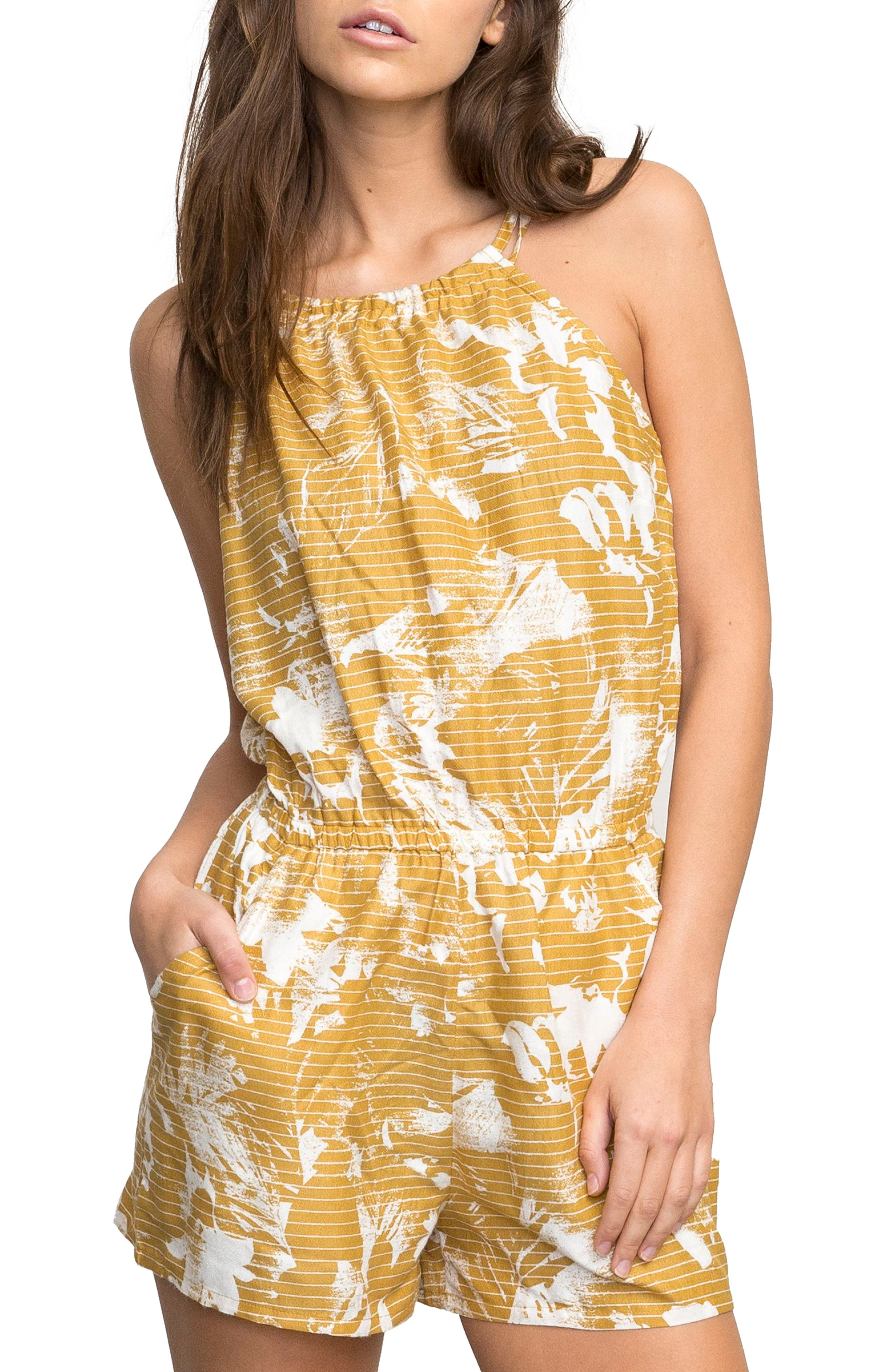 RVCA Hot Water Print Romper