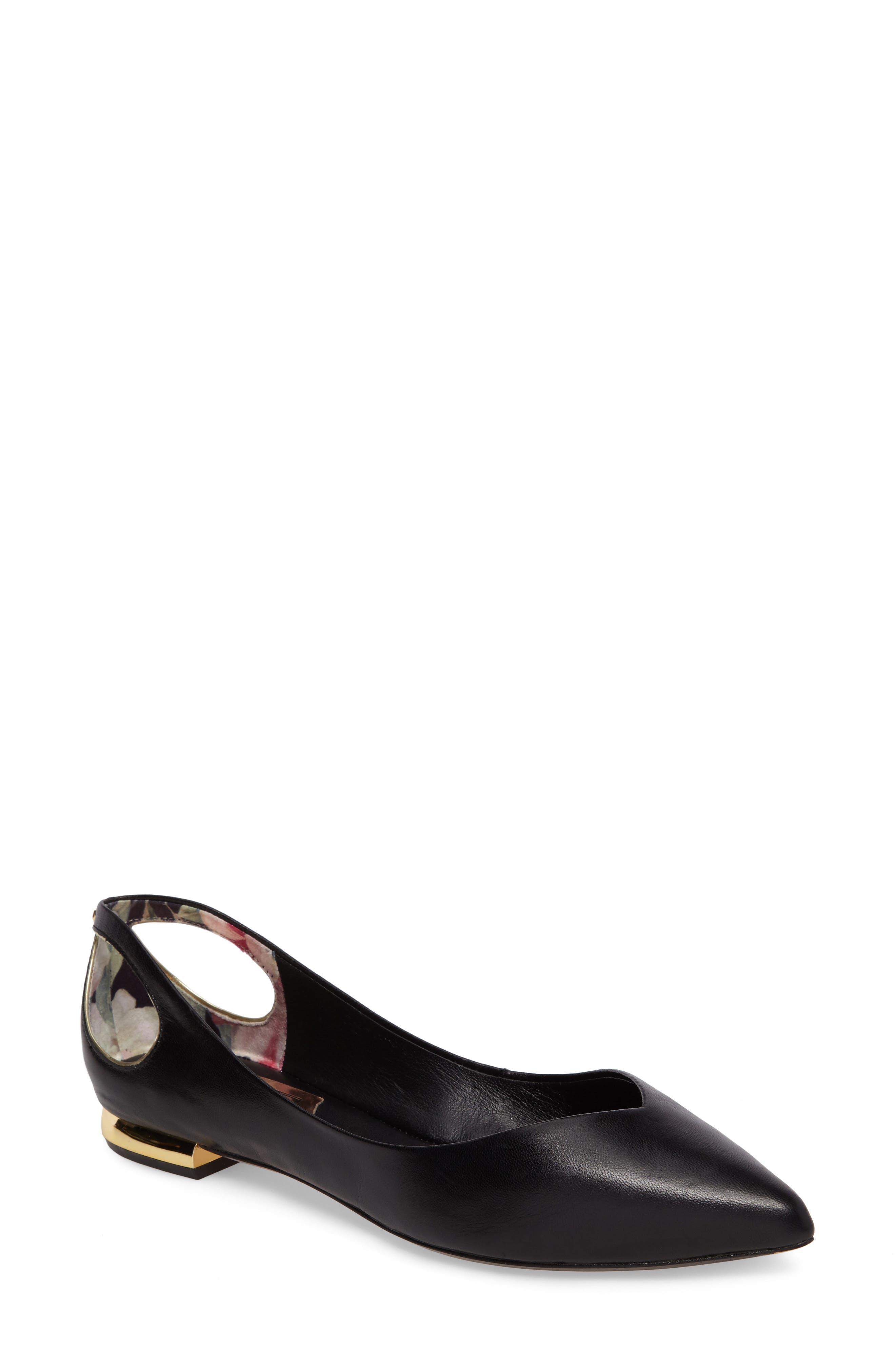 Ted Baker London Dabih Pointy Toe Flat (Women)