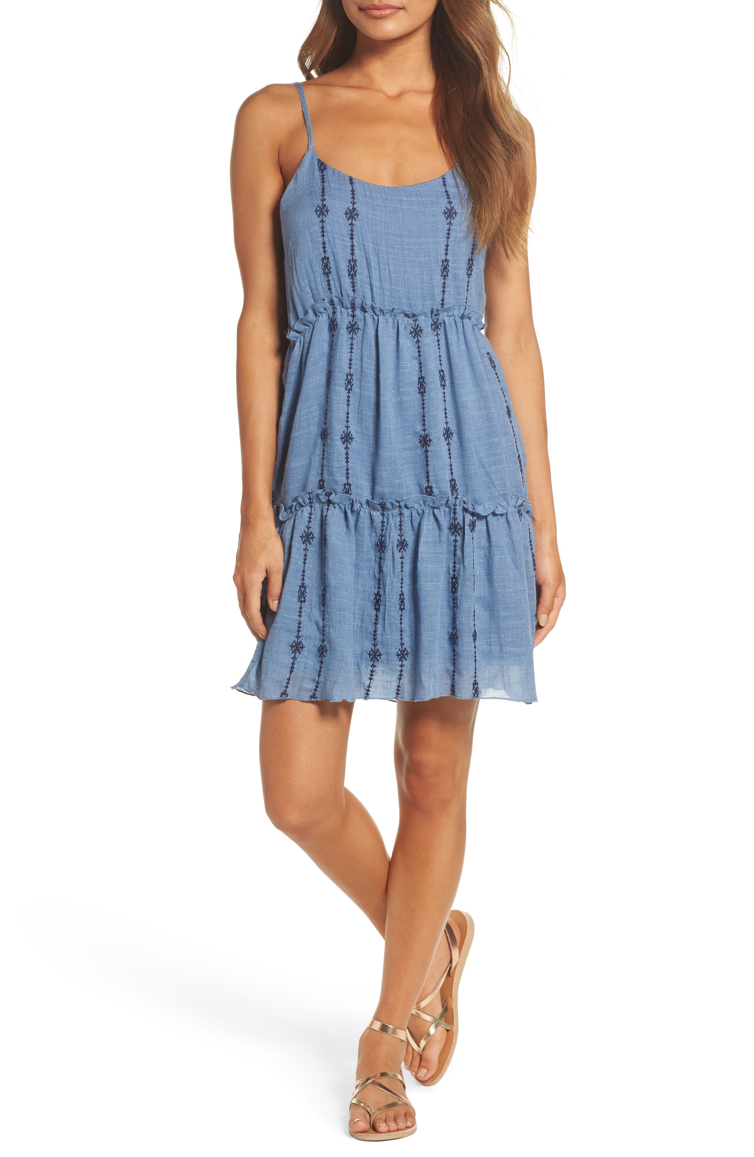 THML Tiered Chambray Dress