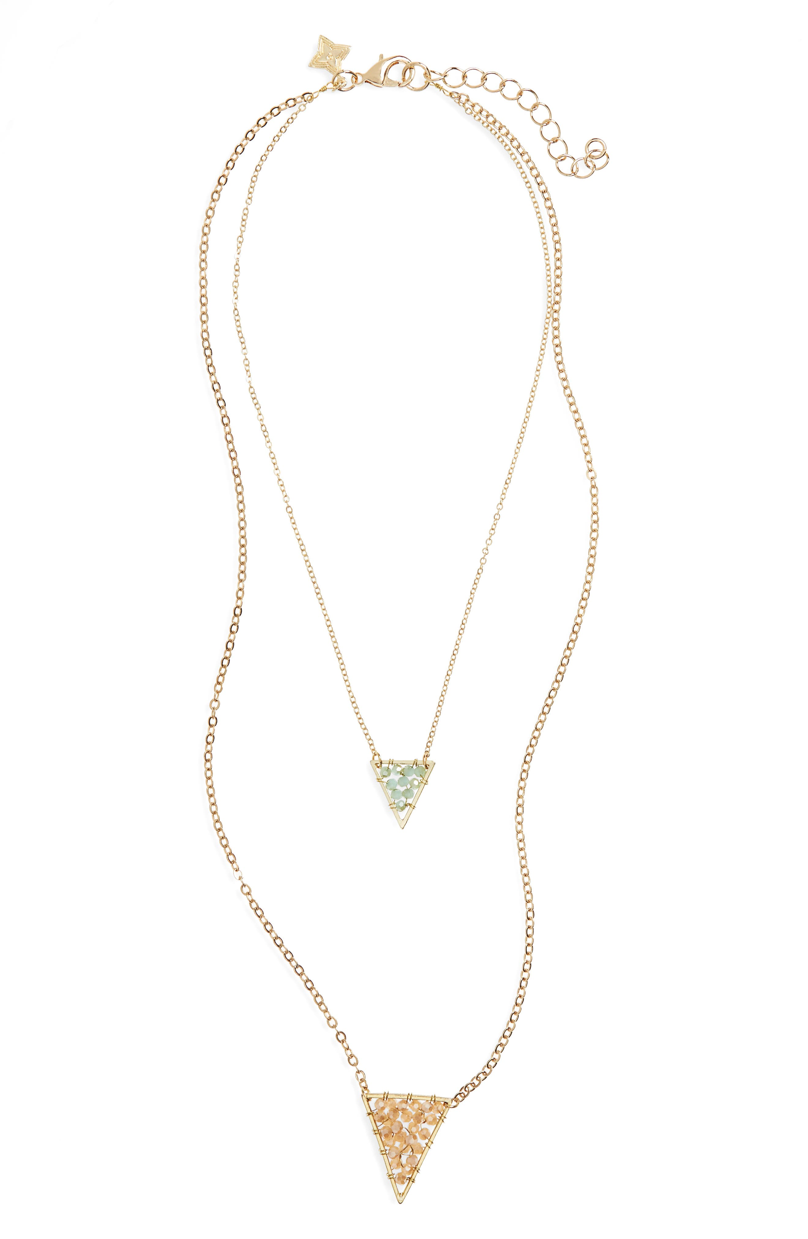 Panacea Crystal Pendant Layered Necklace