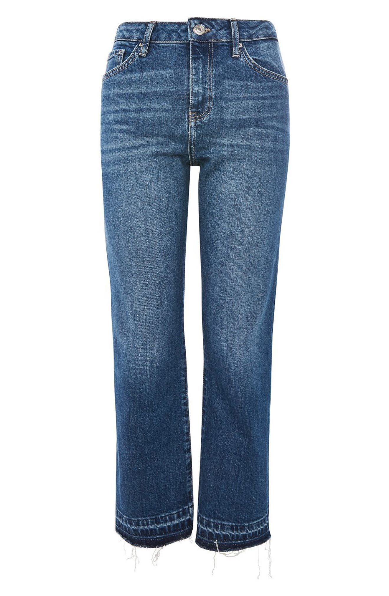 Alternate Image 4  - Topshop Dree Released Hem Flare Jeans