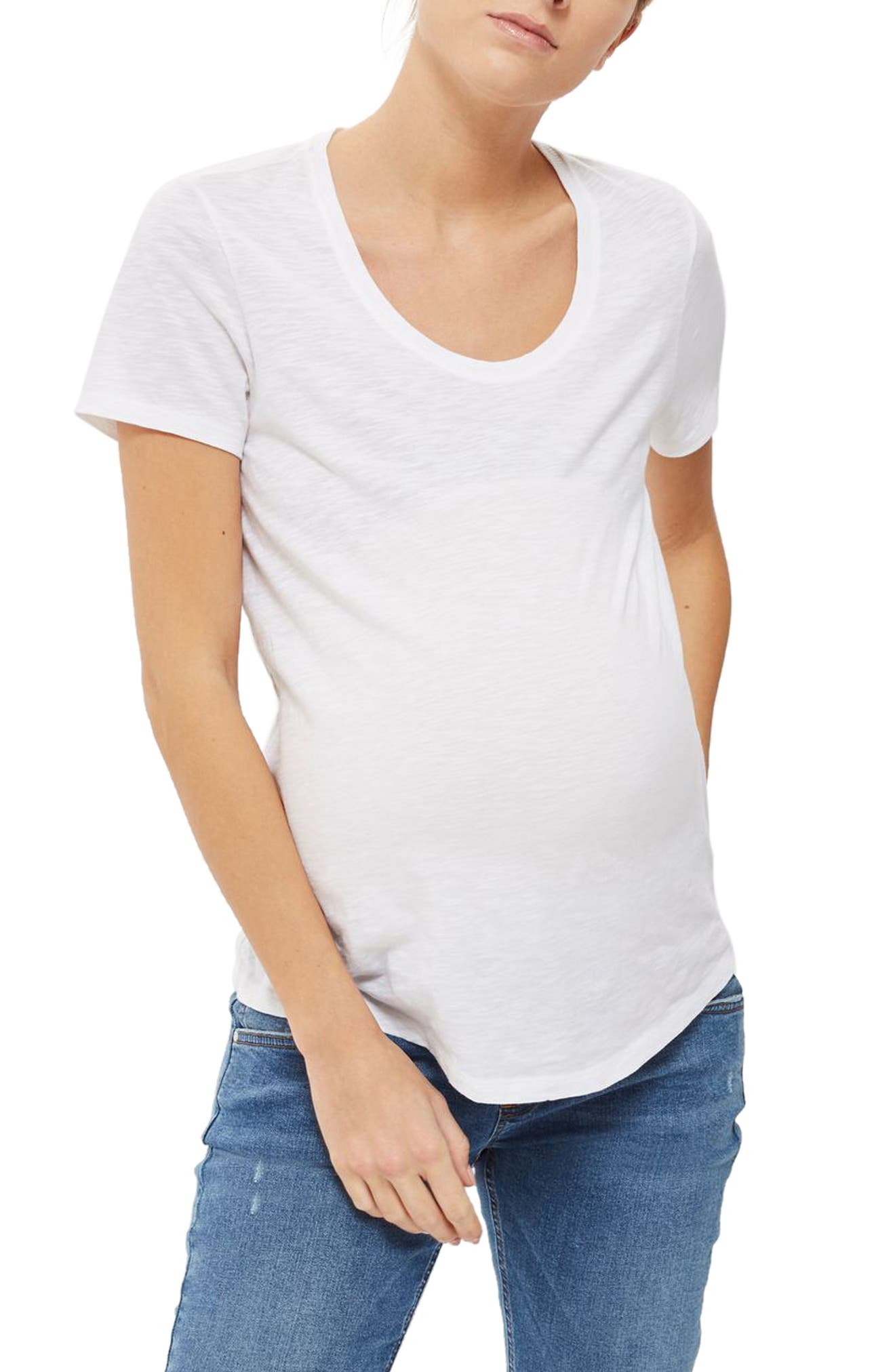 Topshop Scooped Neck Maternity Tee