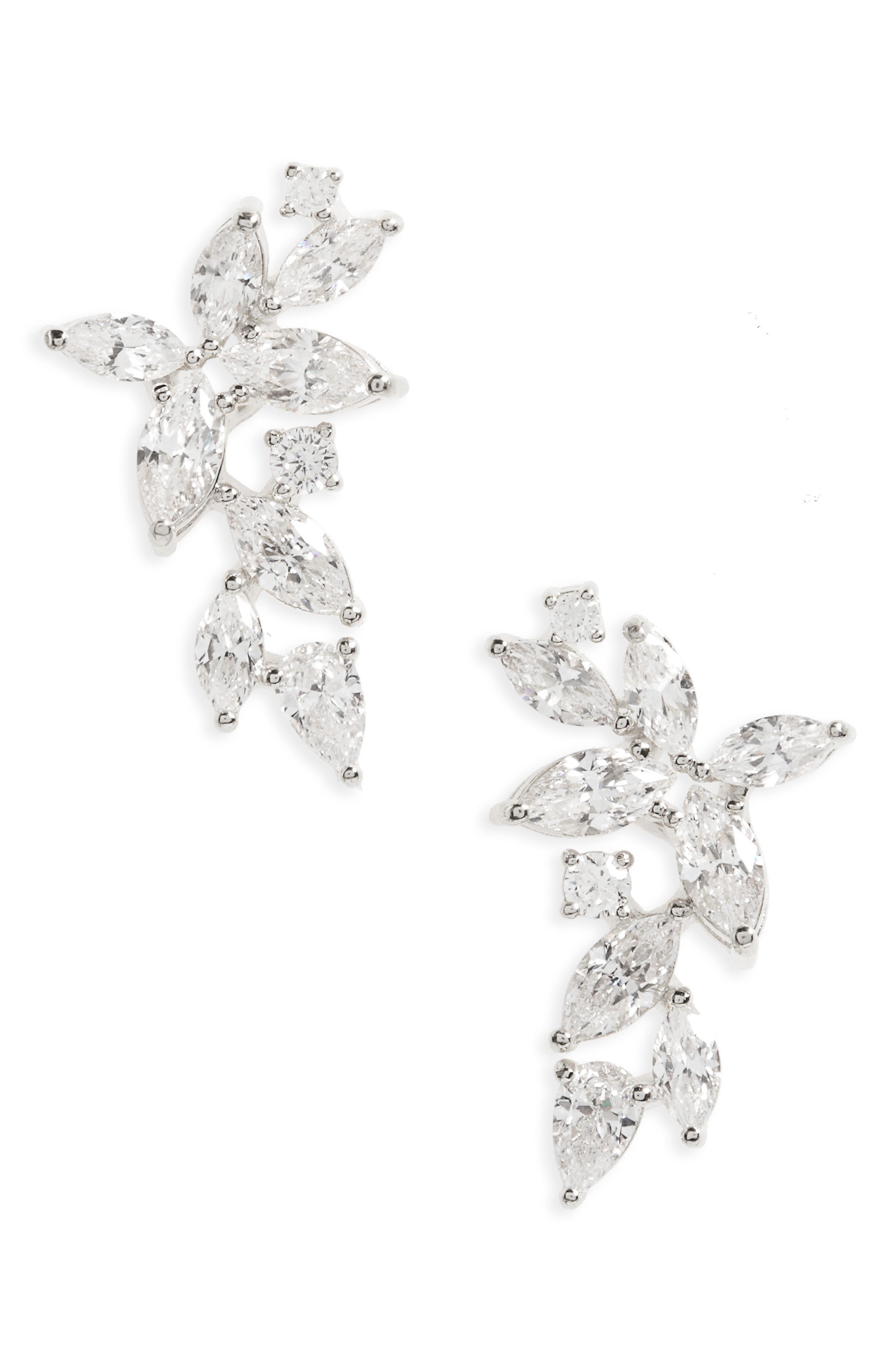 Nadri Papillon Crystal Ear Crawlers