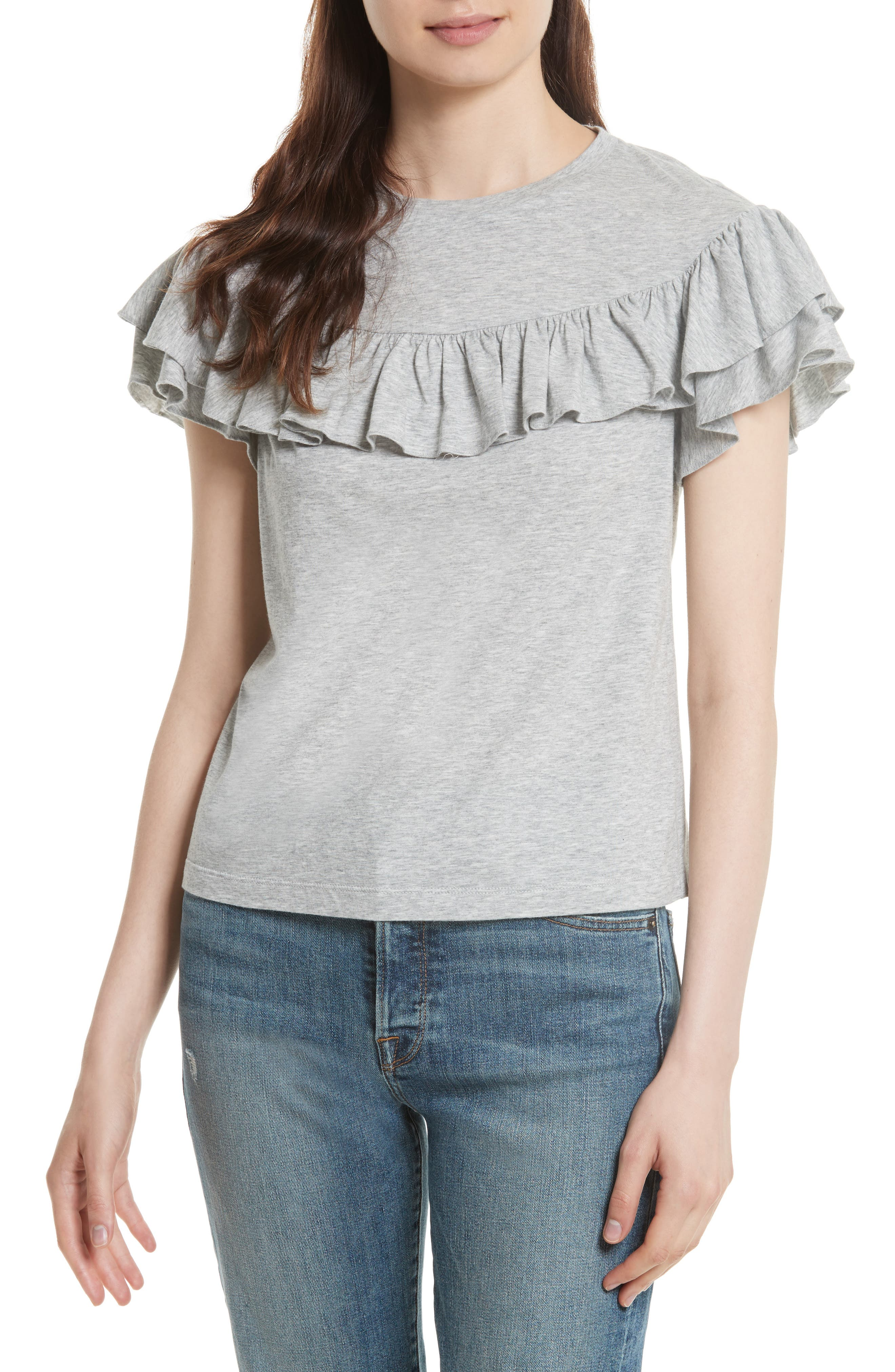 Rebecca Taylor Vintage Ruffle Jersey Top