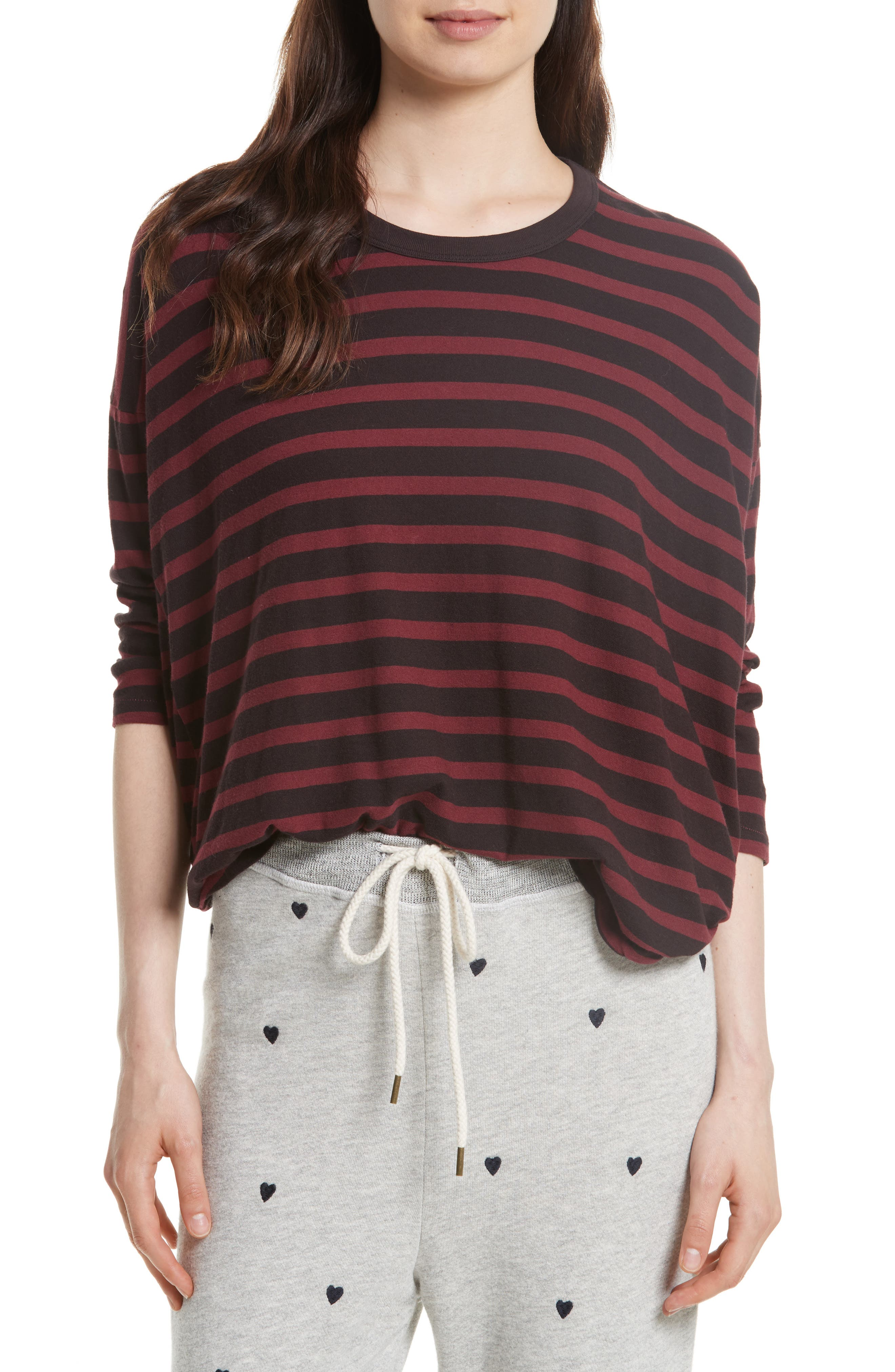 THE GREAT. The Square Stripe Cotton Tee