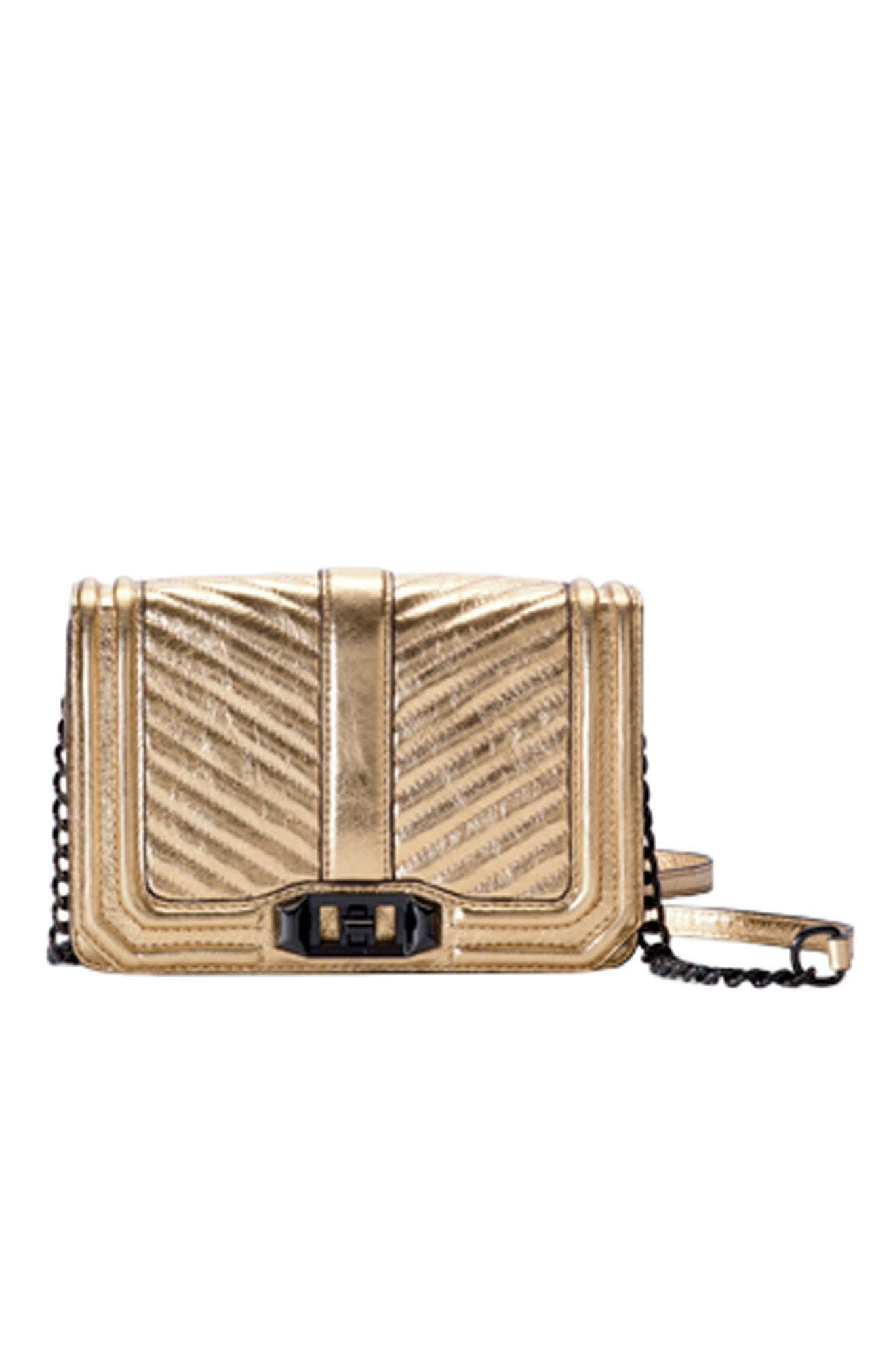 Alternate Image 8  - Rebecca Minkoff Small Love Metallic Leather Crossbody Bag (Nordstrom Exclusive)