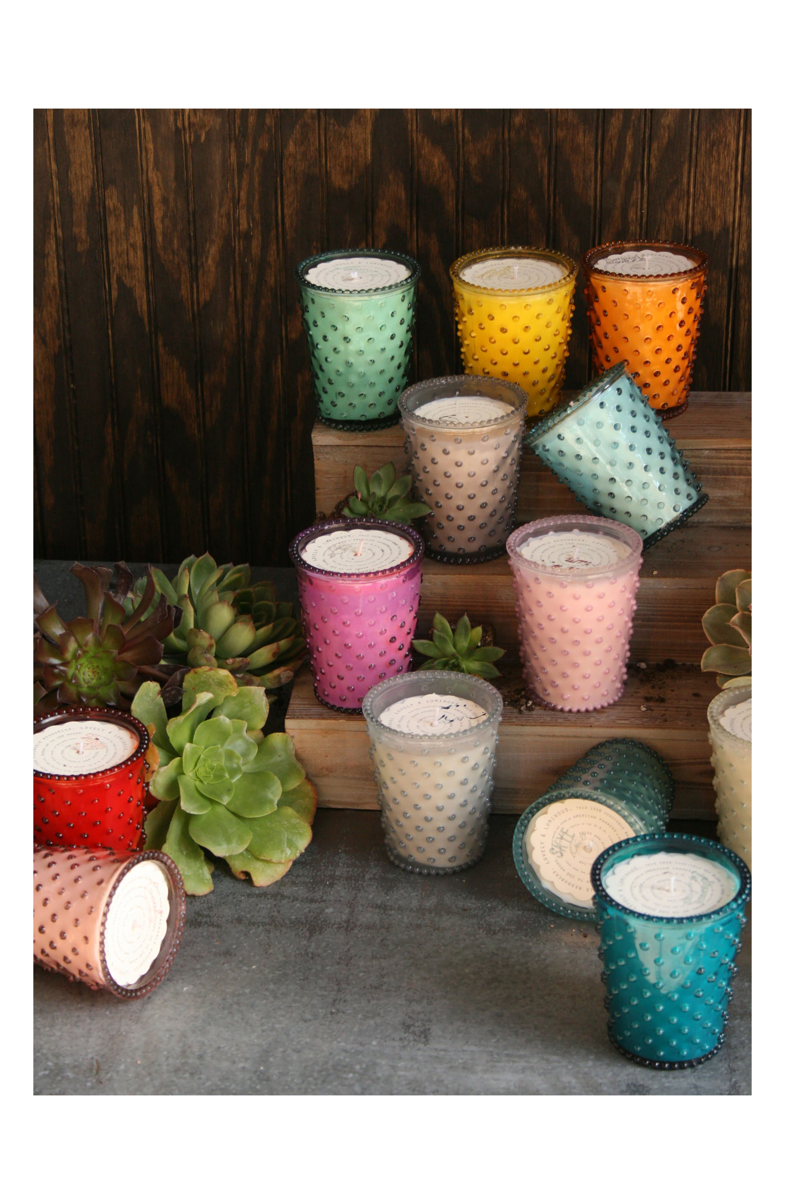 Alternate Image 3  - Simpatico Hobnail Glass Candle