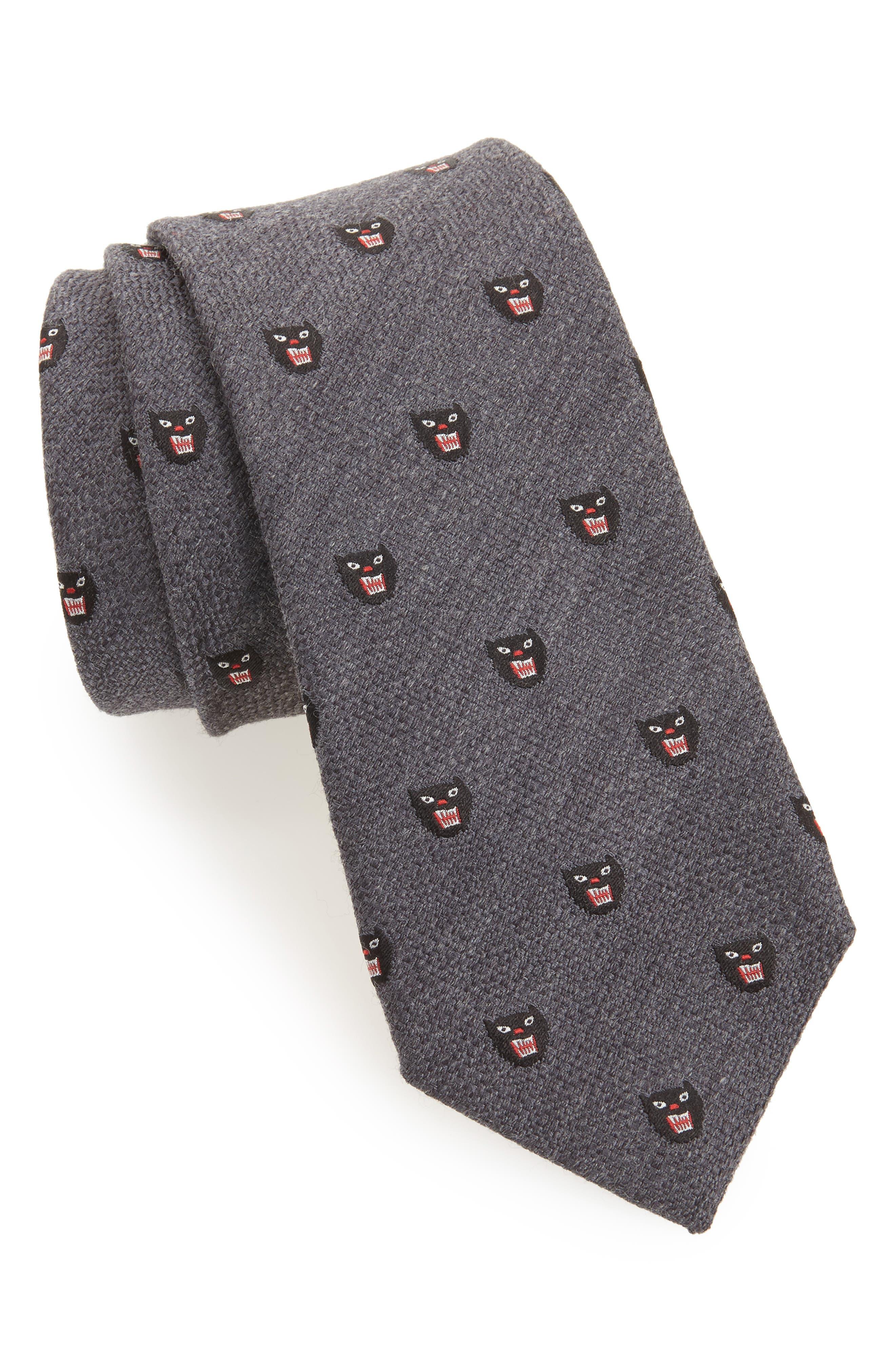 Gucci Puma Patch Jacquard Tie