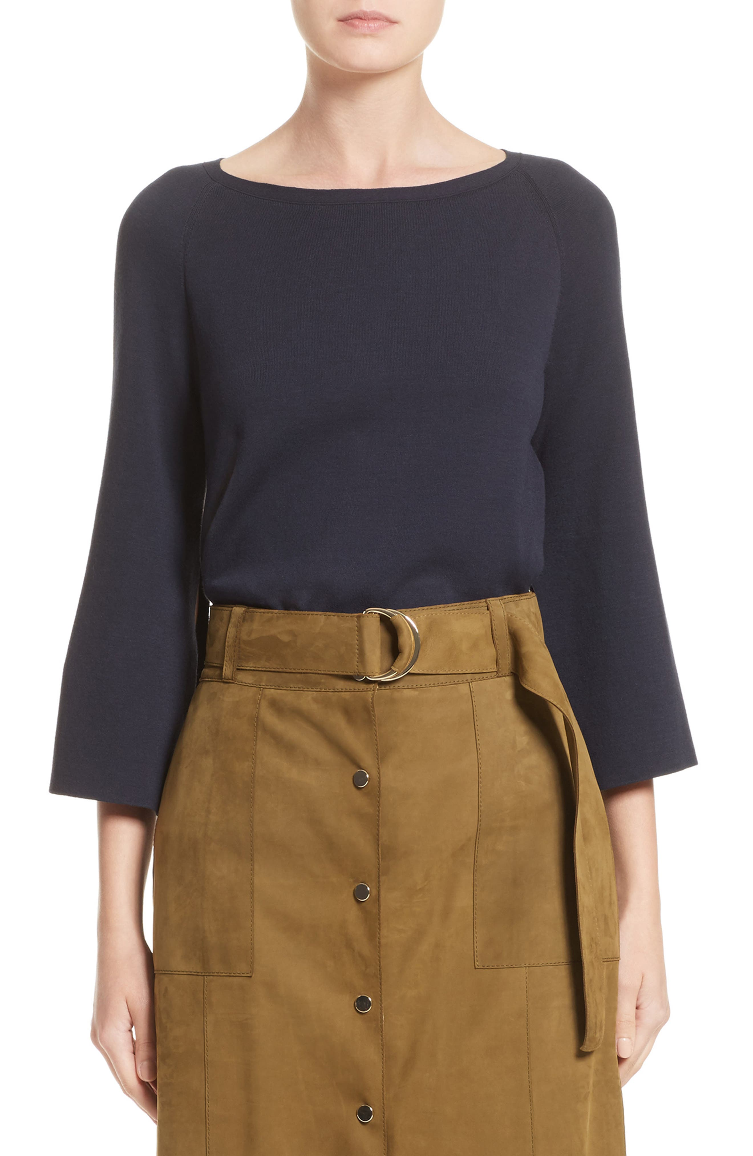 Lafayette 148 New York Bicolor A-Line Sweater