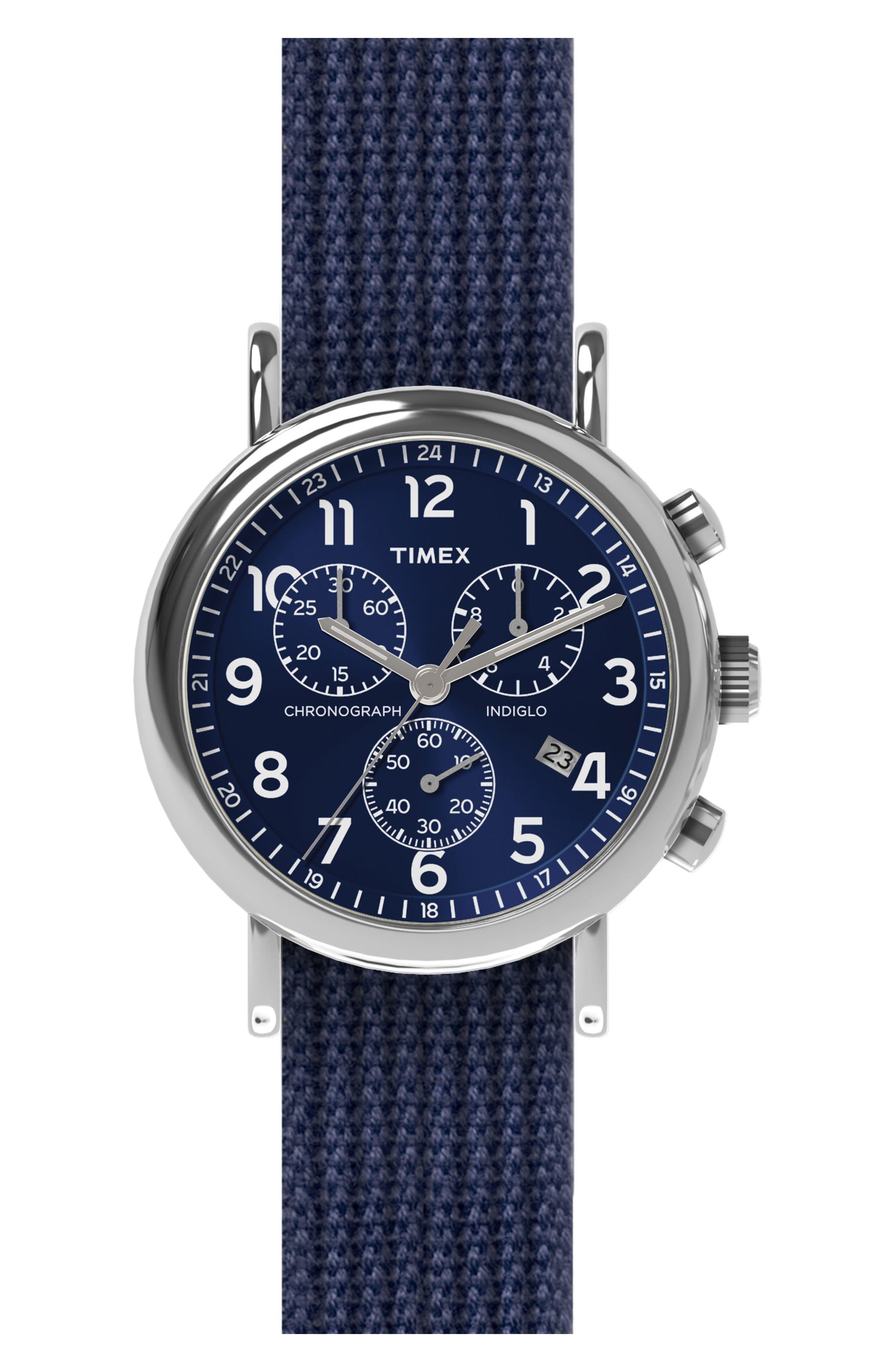 Timex® Chronograph Web Strap Watch, 39mm