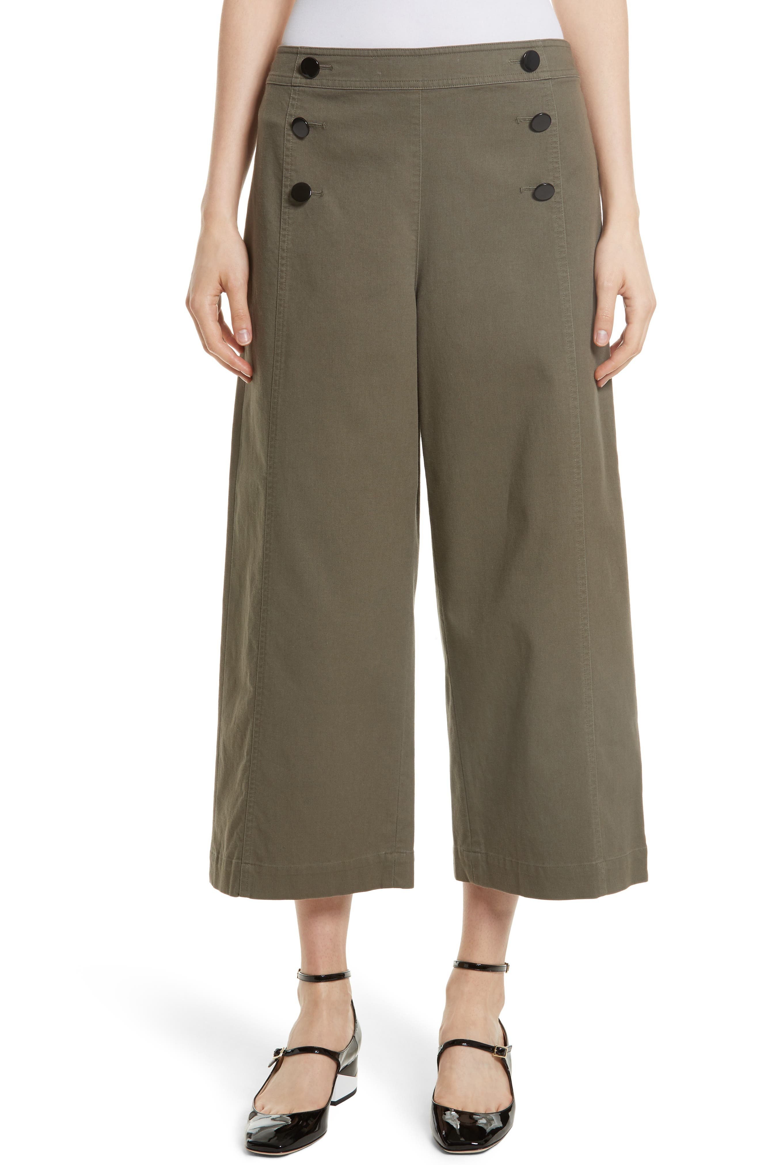 kate spade new york crop military pants
