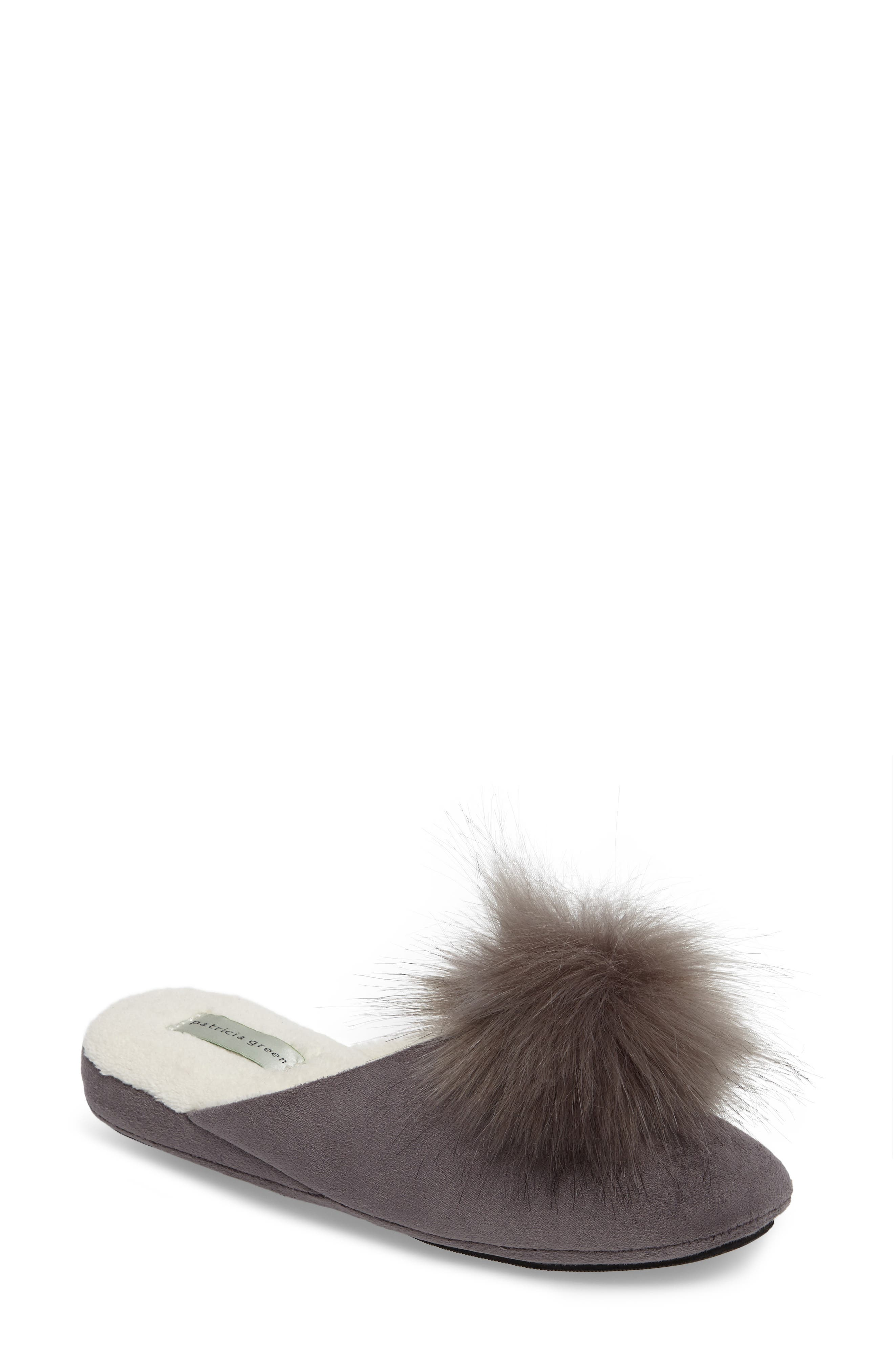 patricia green Pretty Pouf Faux Fur Slipper (Women)