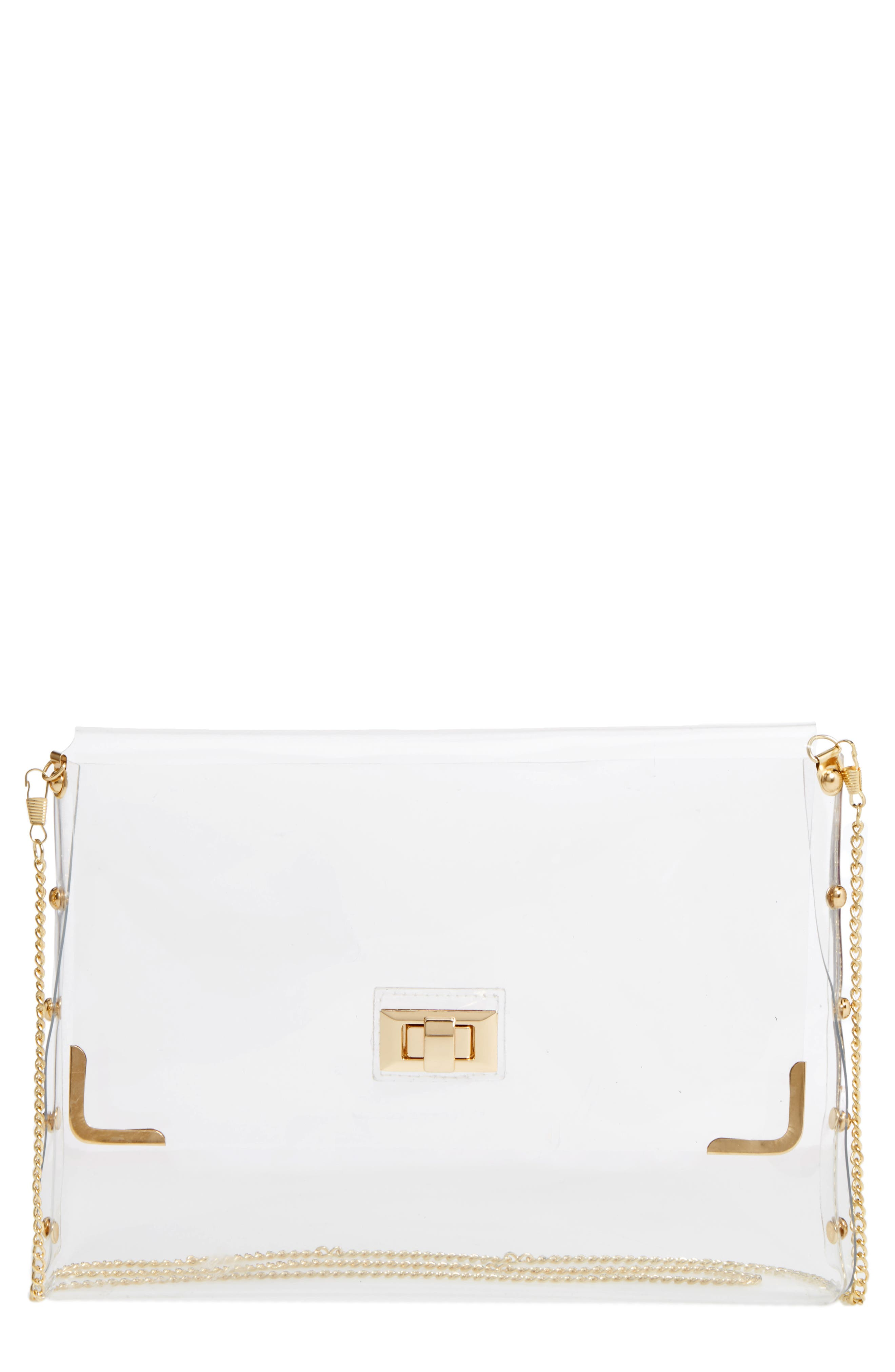 Amici Accessories Clear Crossbody Bag