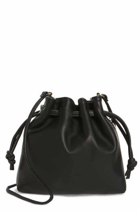 Clare V. Petite Henri Leather Bucket Bag