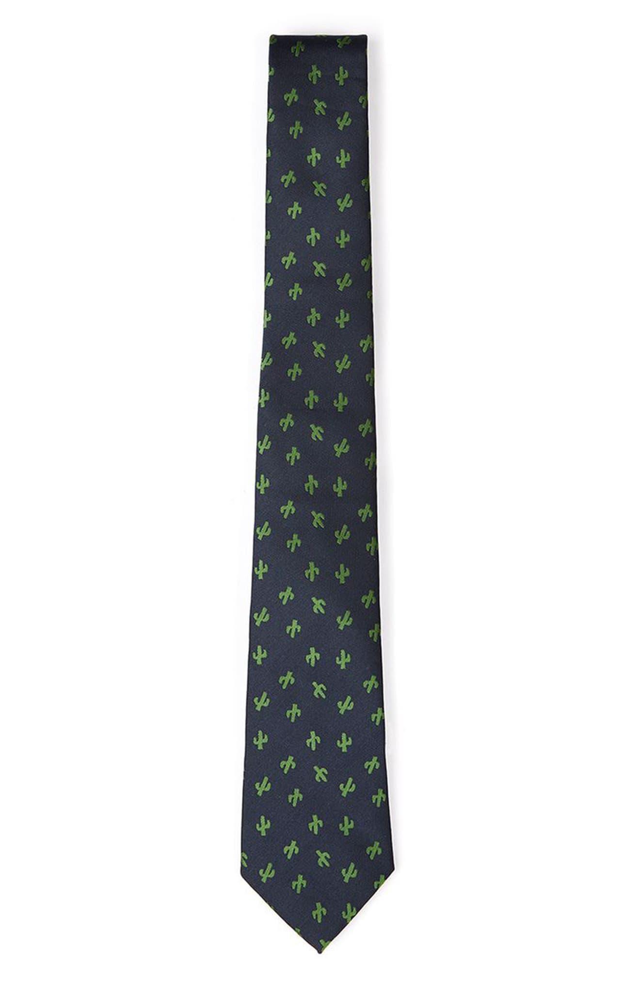 Topman Cactus Print Tie
