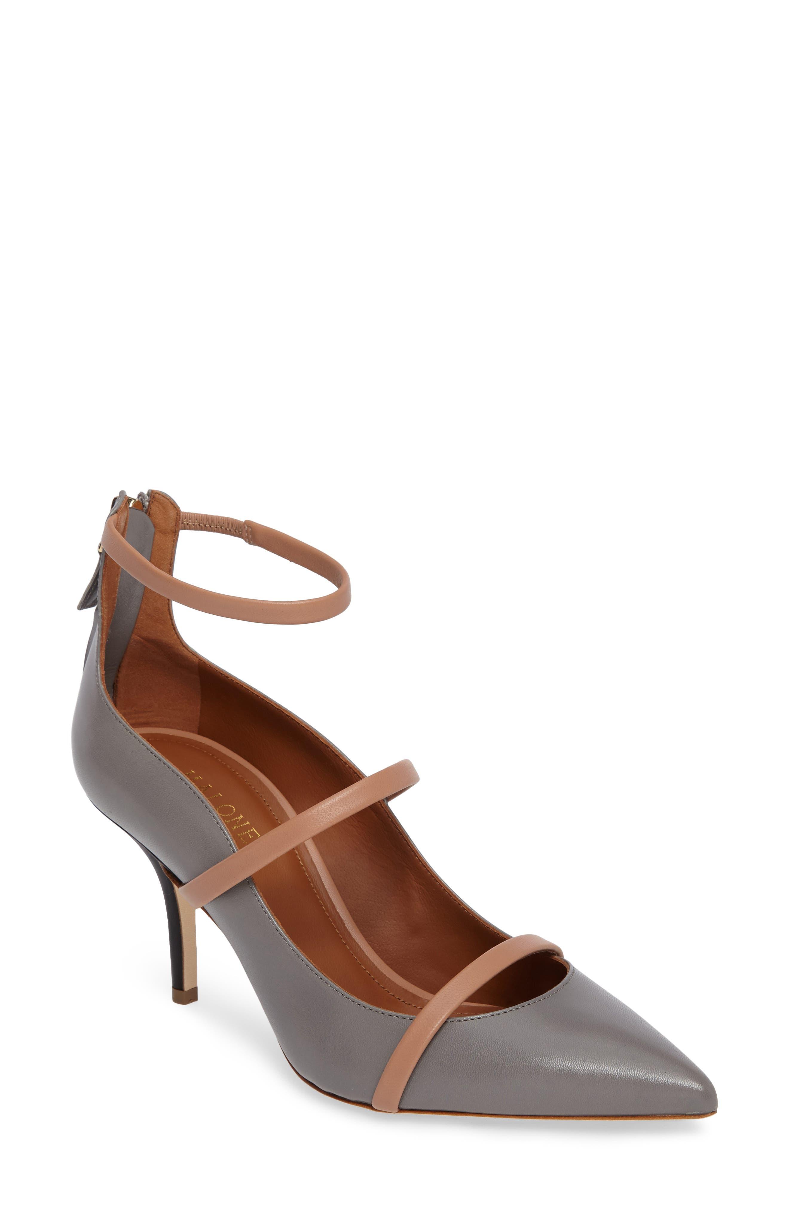 Malon Souliers Robyn Ankle Strap Pump (Women)