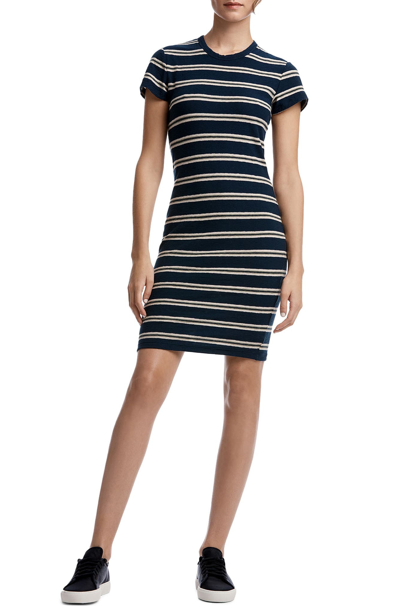James Perse Vintage Stripe T-Shirt Dress