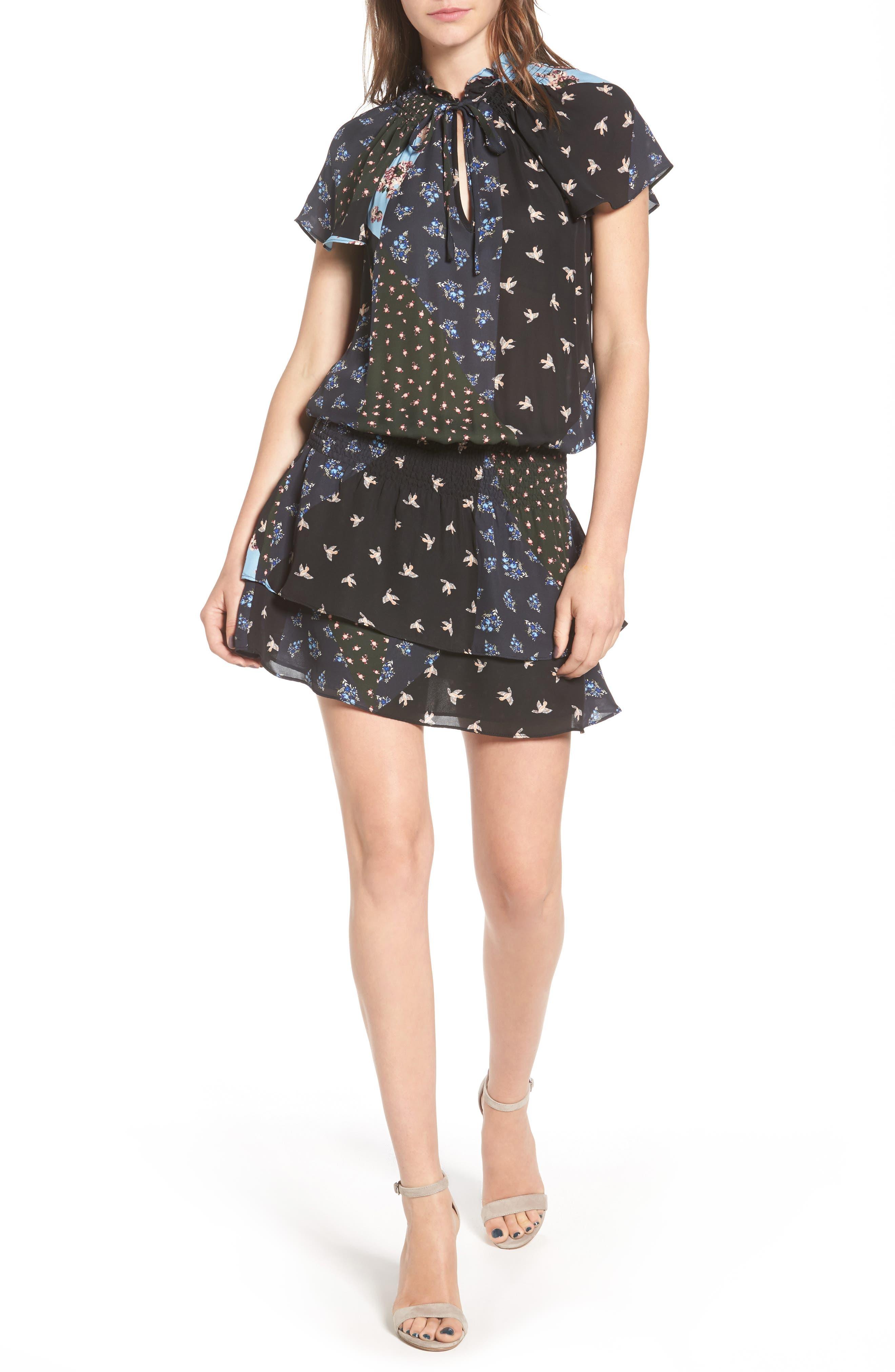Parker Lou Print Silk Dress