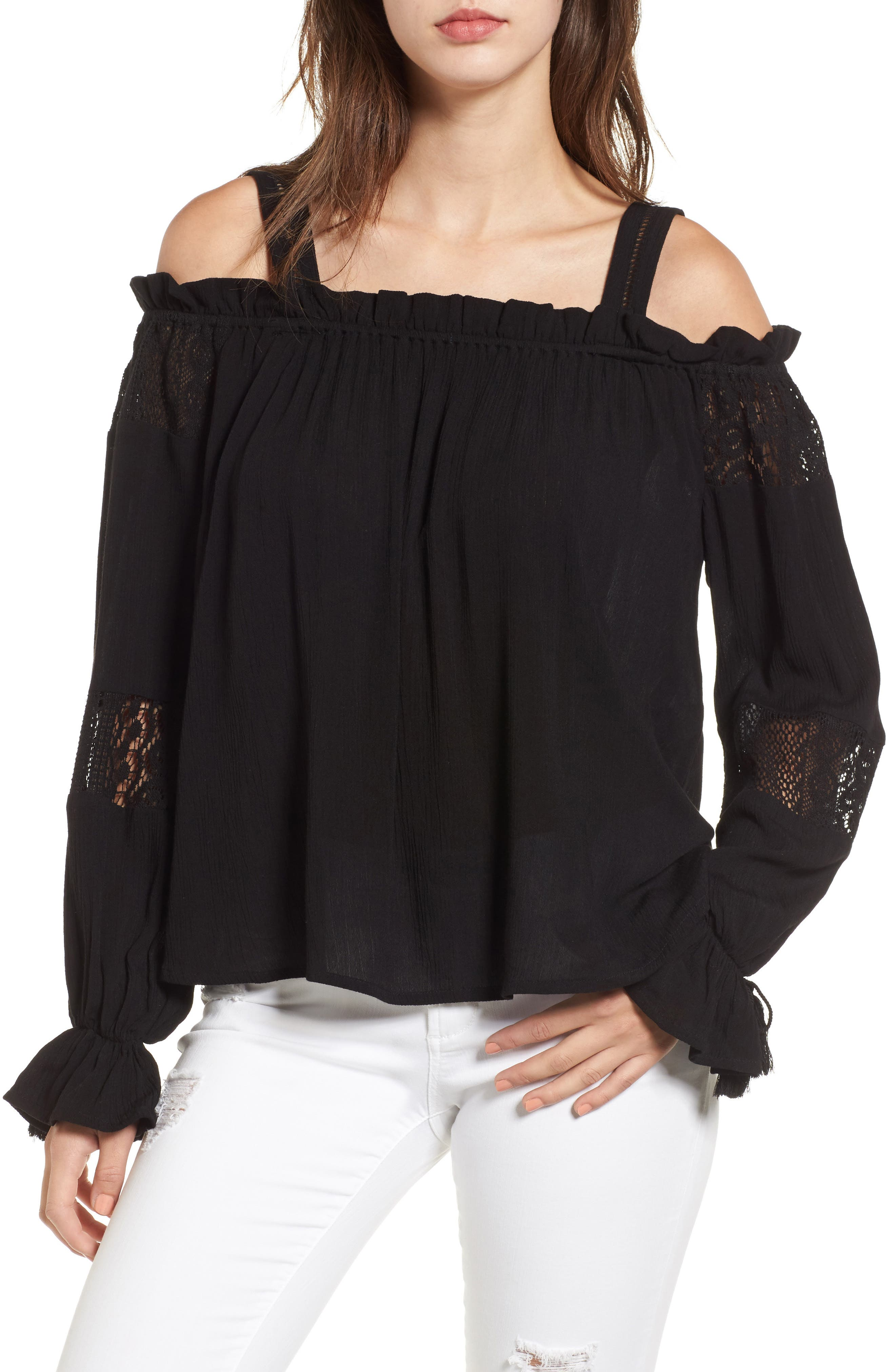 Band of Gypsies Cold Shoulder Top