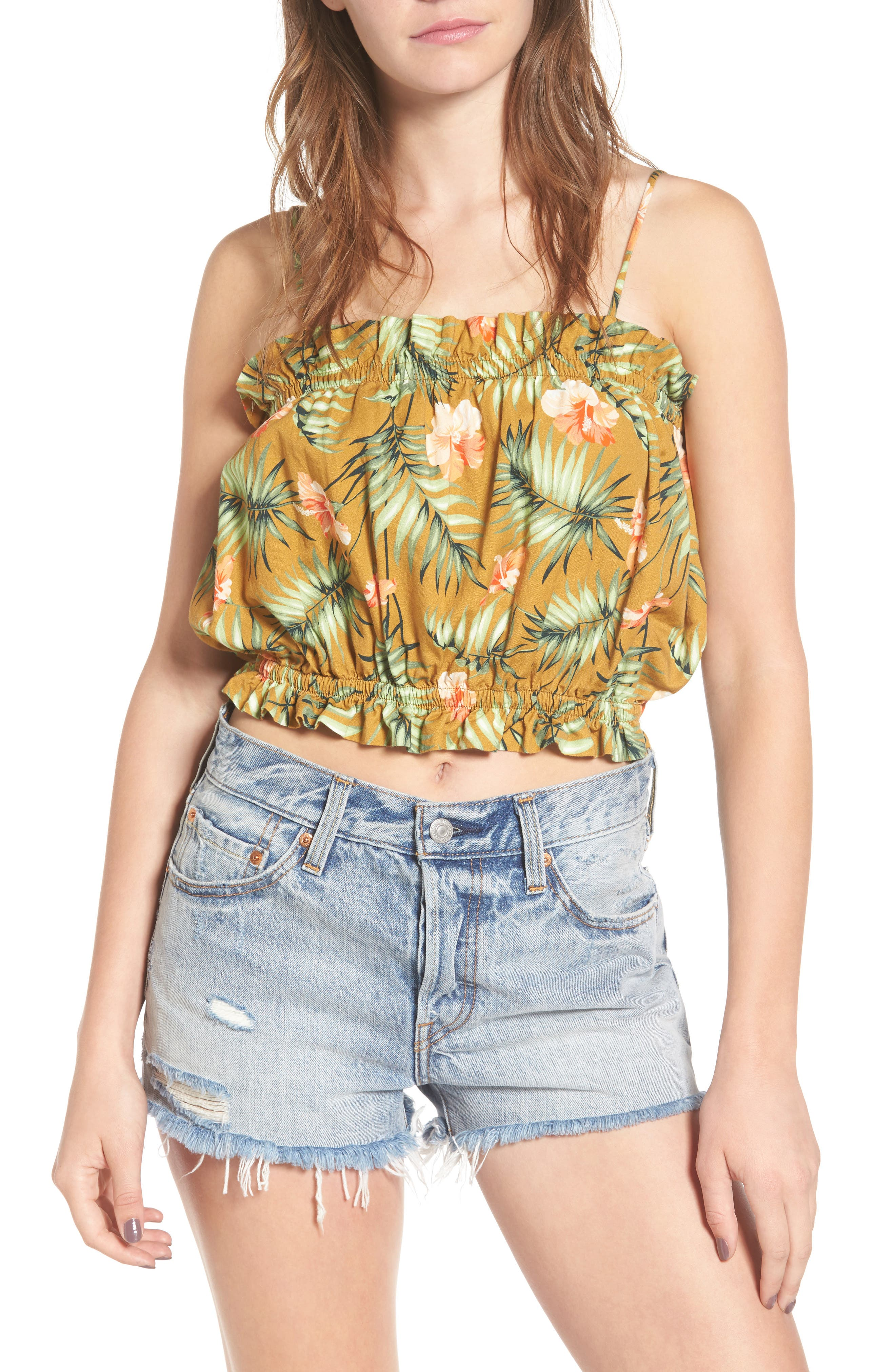 Sincerely Jules Palm Crop Top