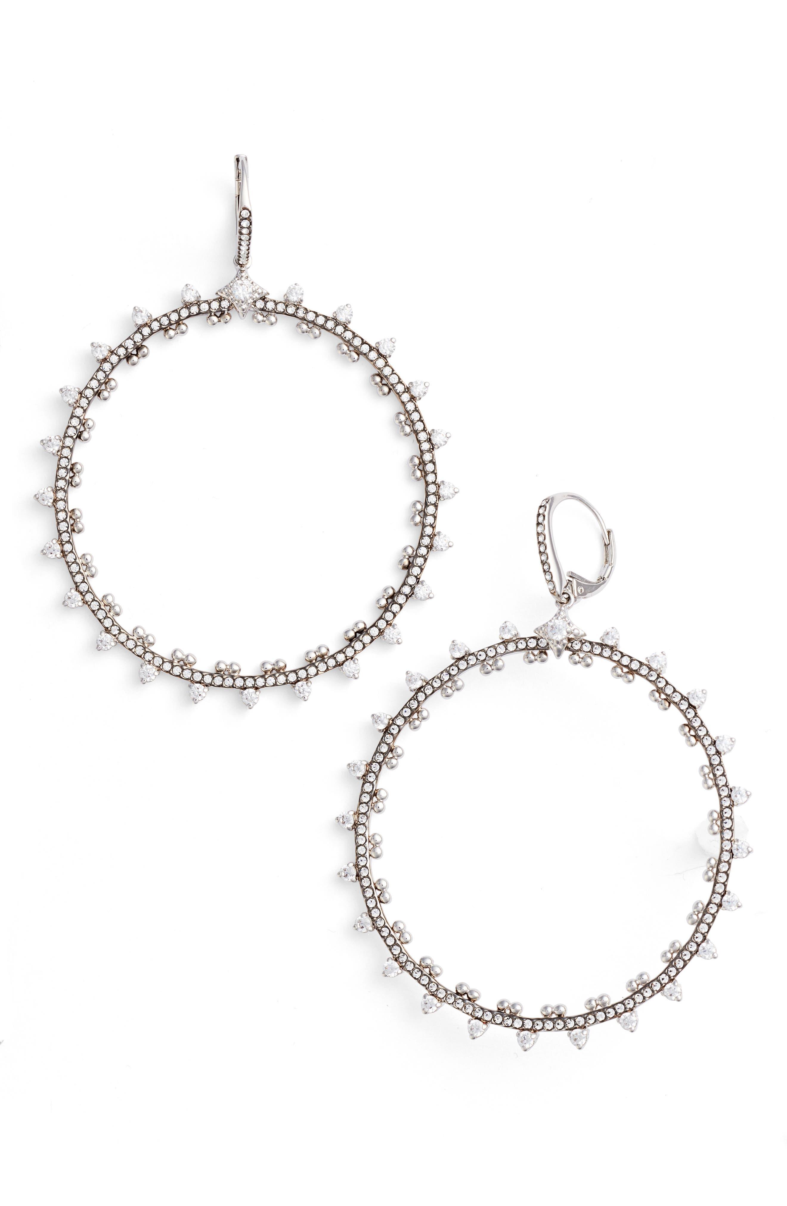 Nadri Cardamom Frontal Hoop Earrings