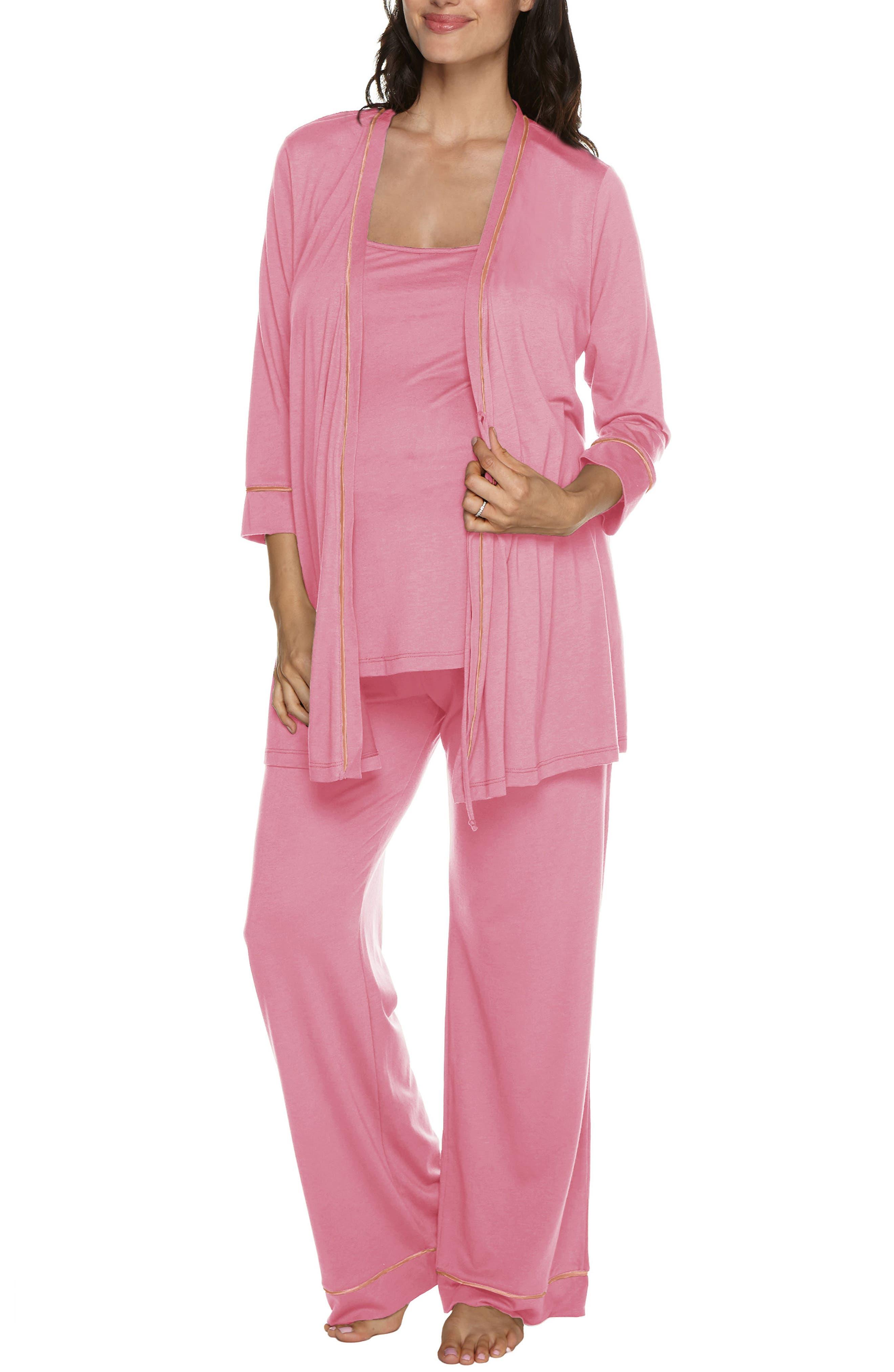 Cosabella Bella 3-Piece Maternity Pajamas