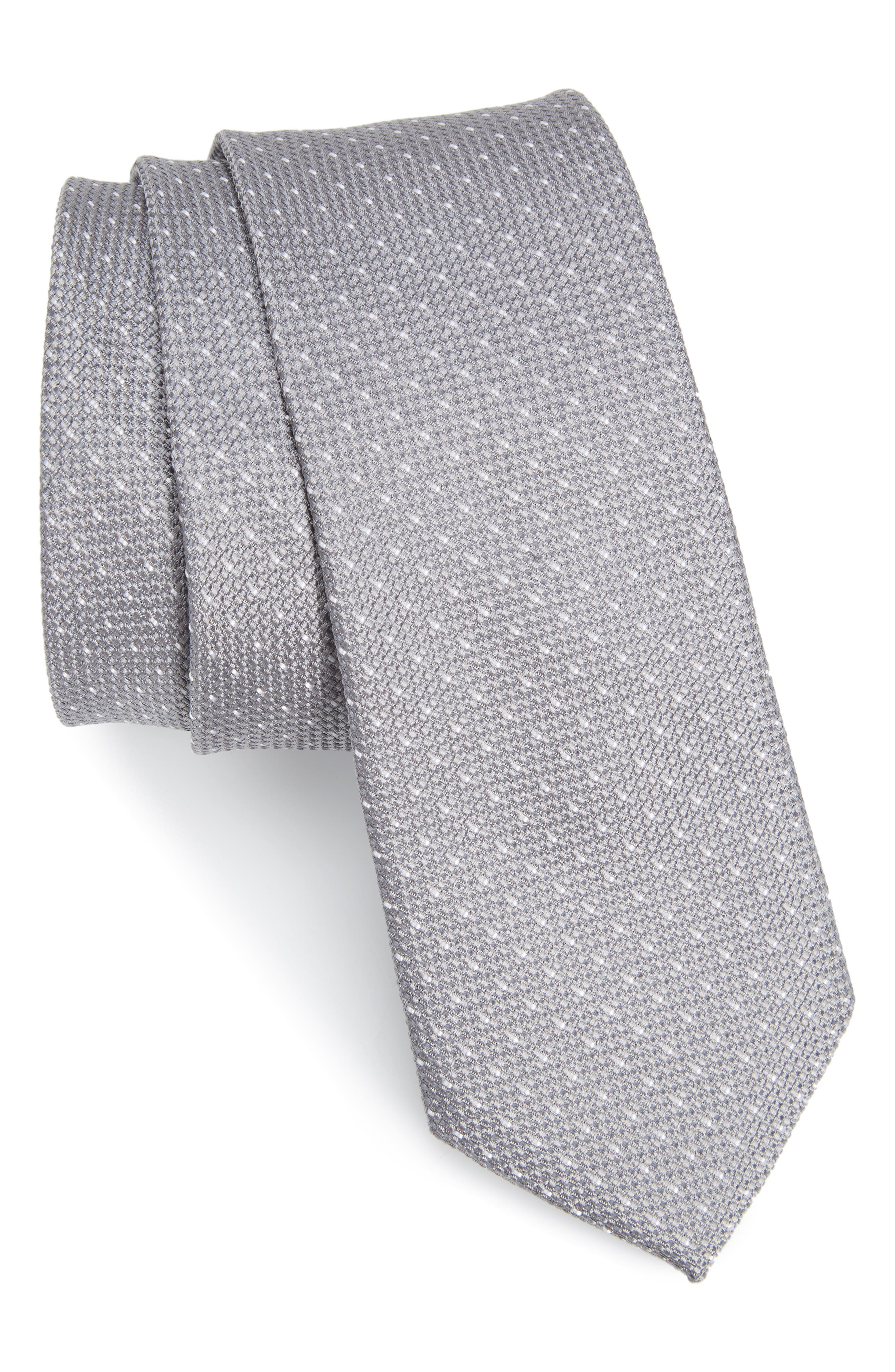 Nordstrom Men's Shop Nimba Mini Dot Silk Skinny Tie