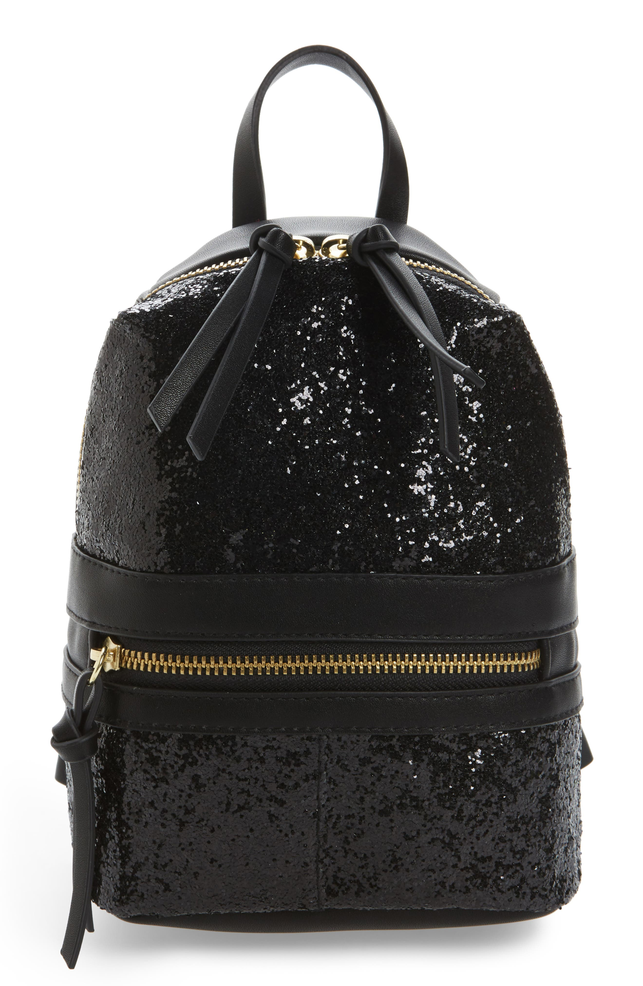 T-Shirt and Jeans Sparkle Mini Backpack