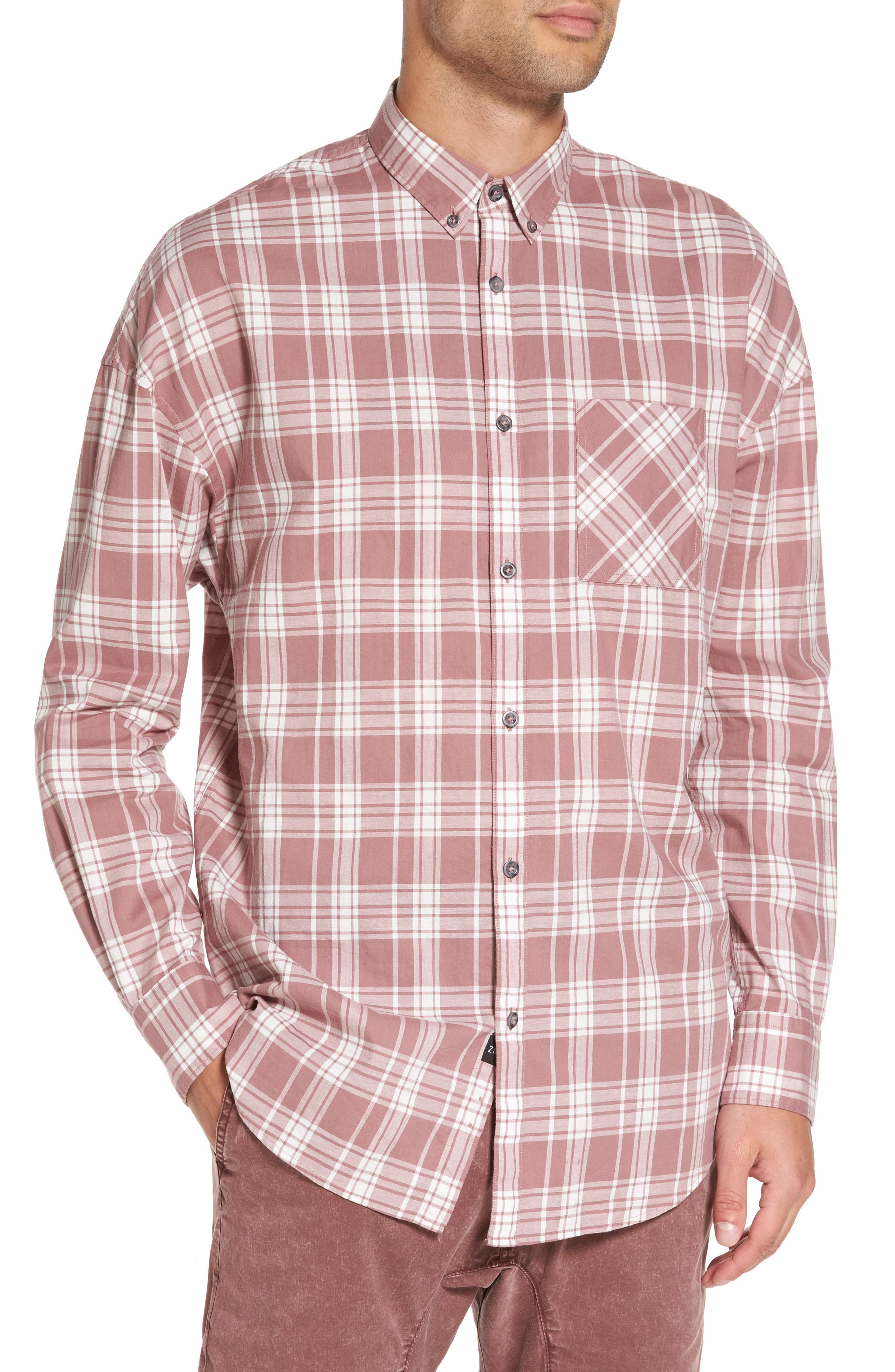 ZANEROBE Check Rugger Oversize Plaid Shirt