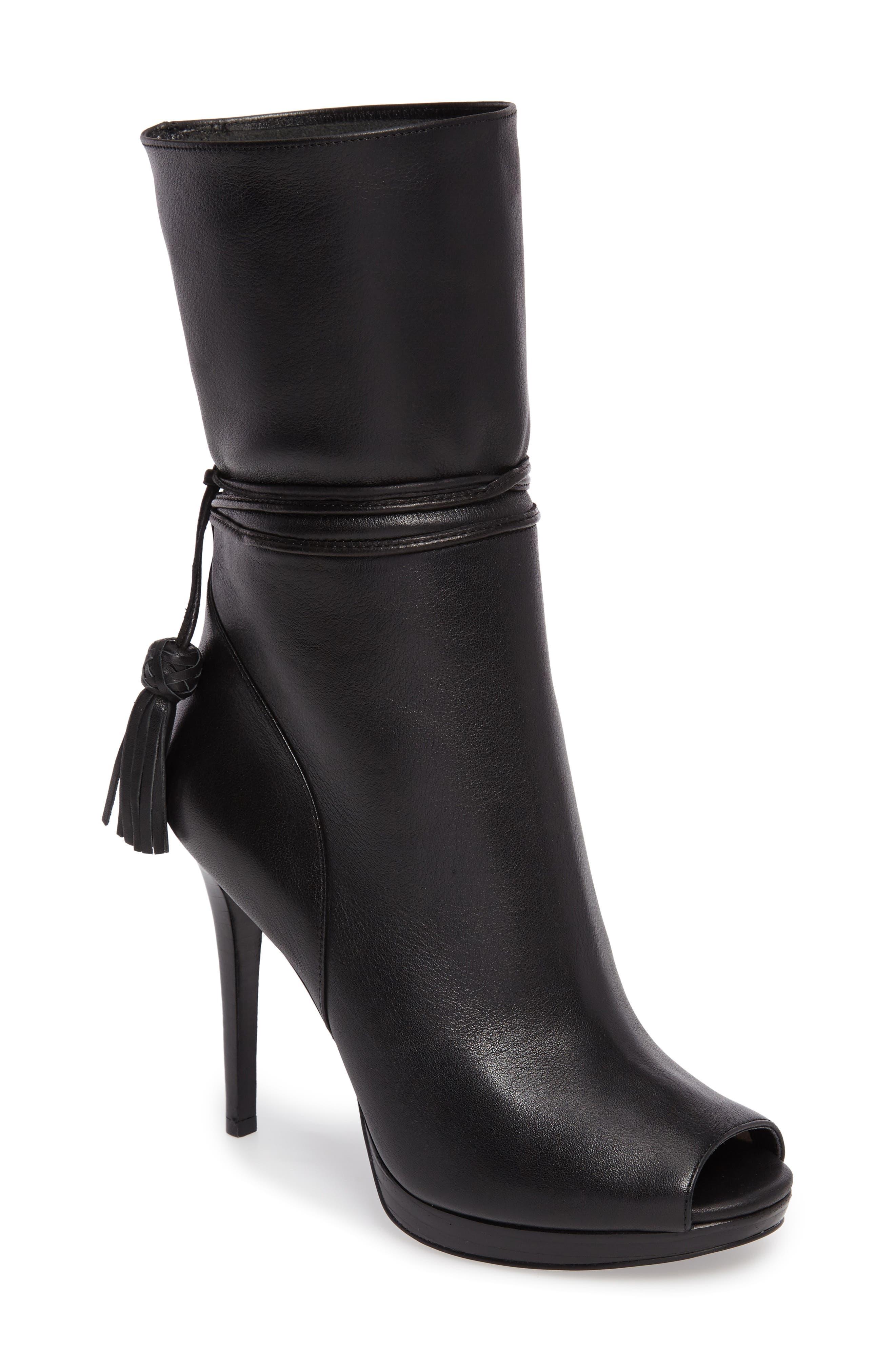MICHAEL Michael Kors Peep Toe Bootie (Women)