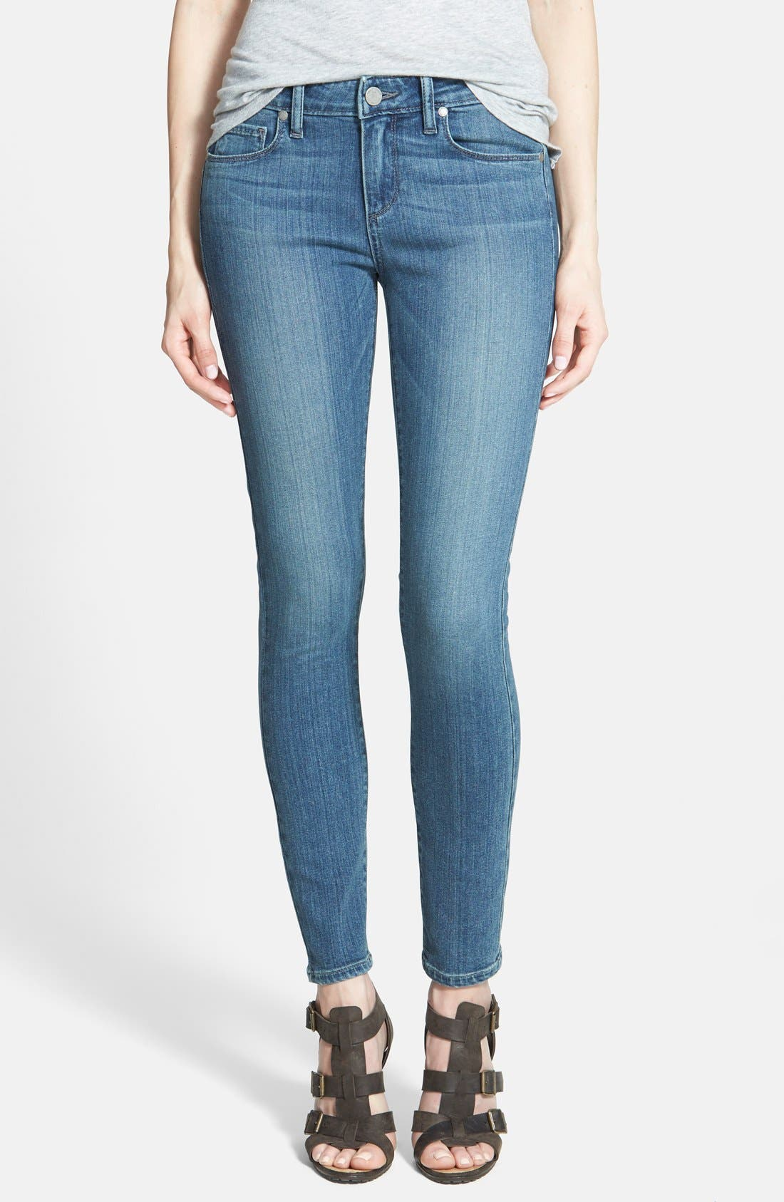 Alternate Image 1 Selected - Paige Denim 'Verdugo' Low Rise Ankle Skinny Jeans (Dazeley)