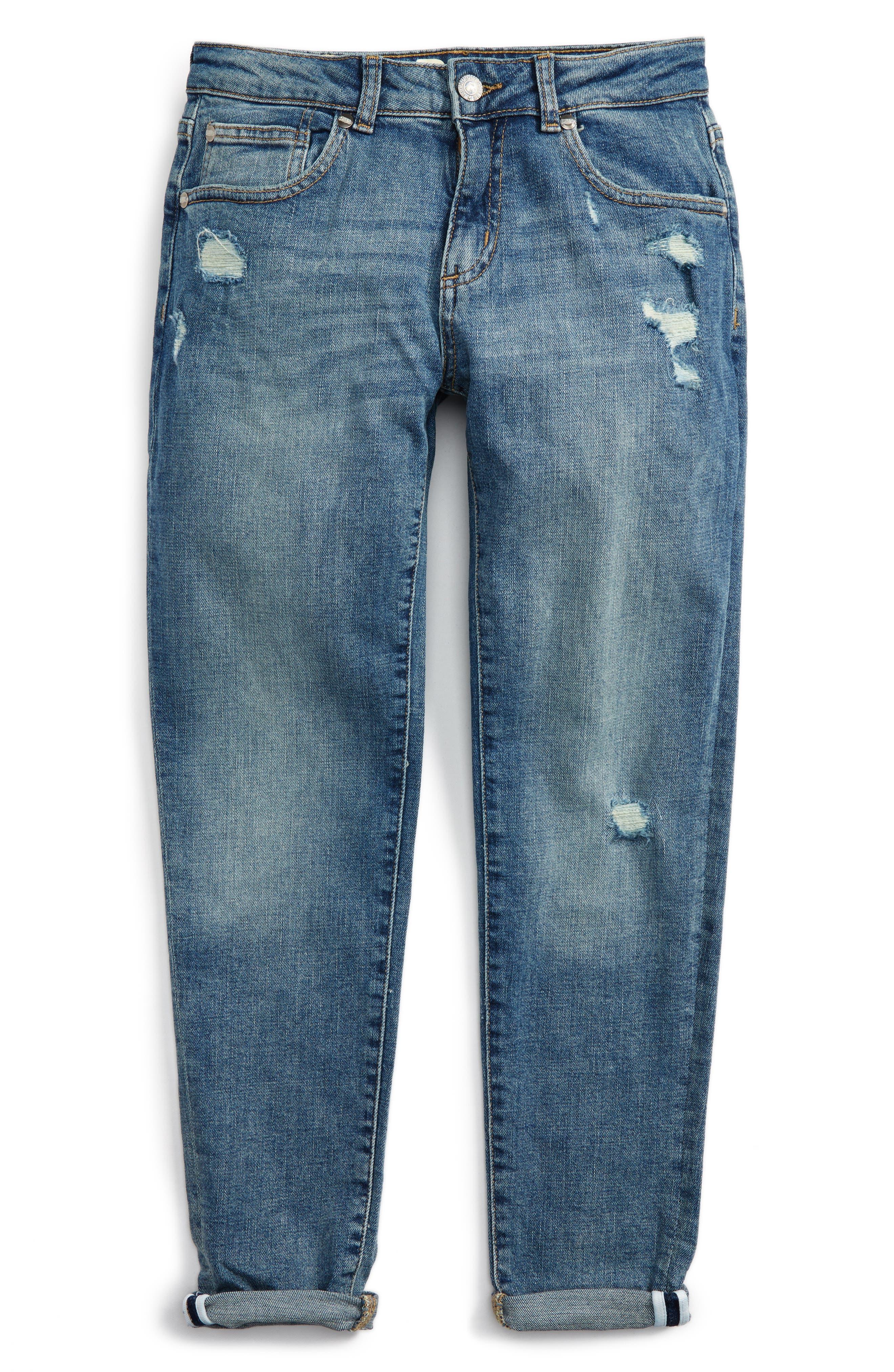 Peek Greta Distressed Skinny Jeans (Toddler Girls, Little Girls & Big Girls)