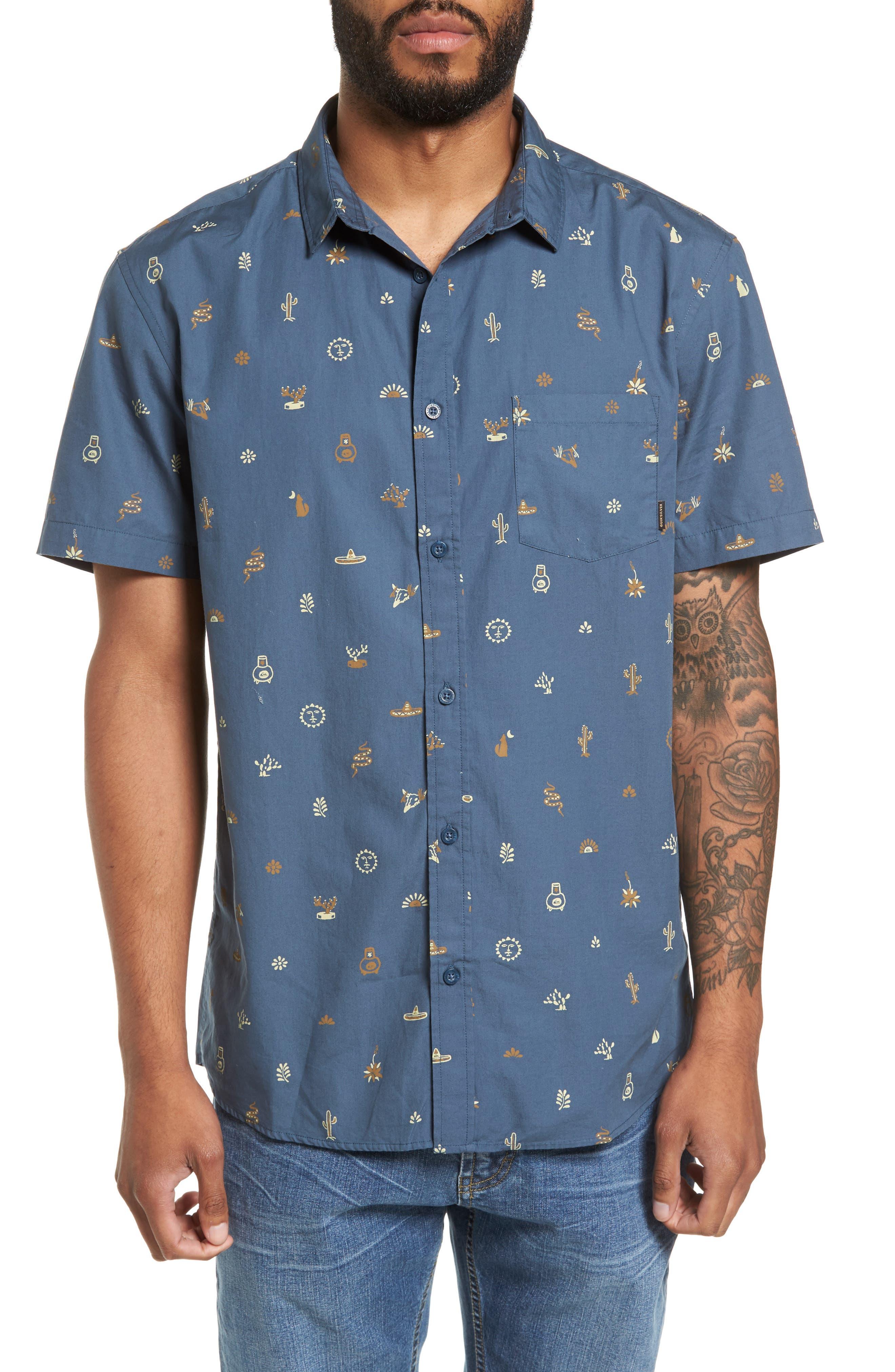 Quiksilver Baja Mini Print Woven Shirt