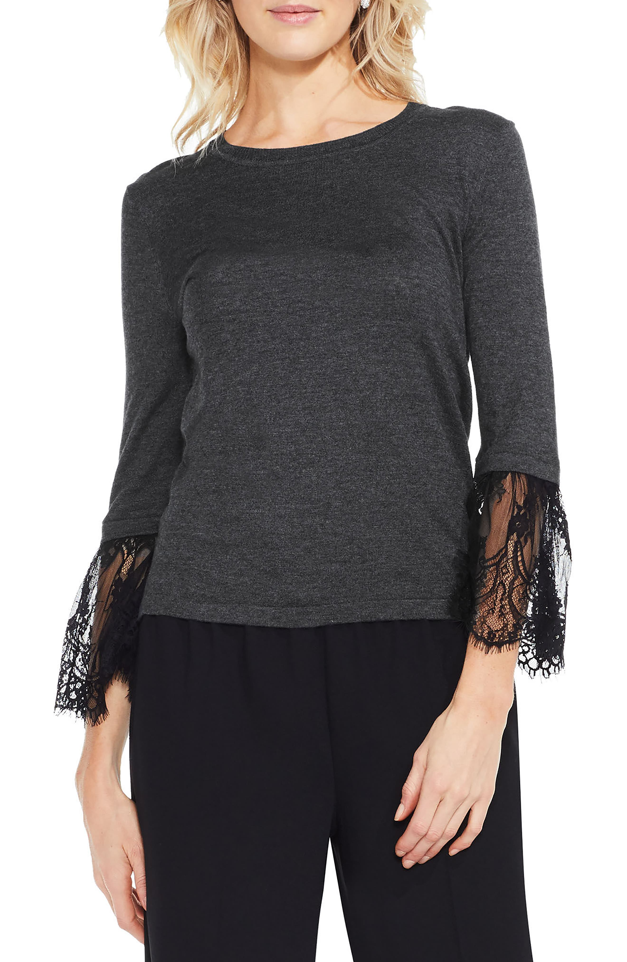 Vince Camuto Lace Cuff Sweater