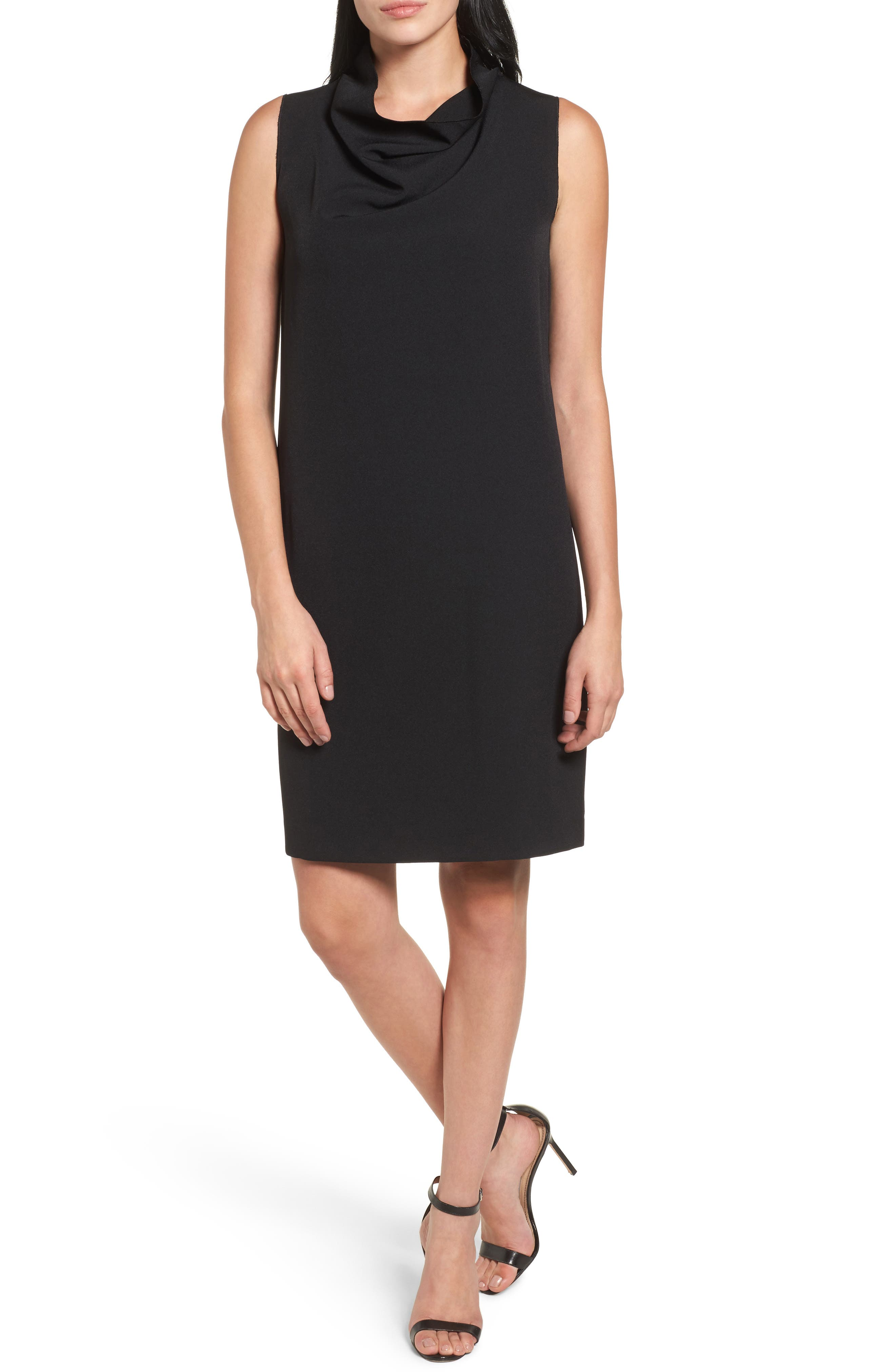 Anne Klein Cowl Neck Sheath Dress