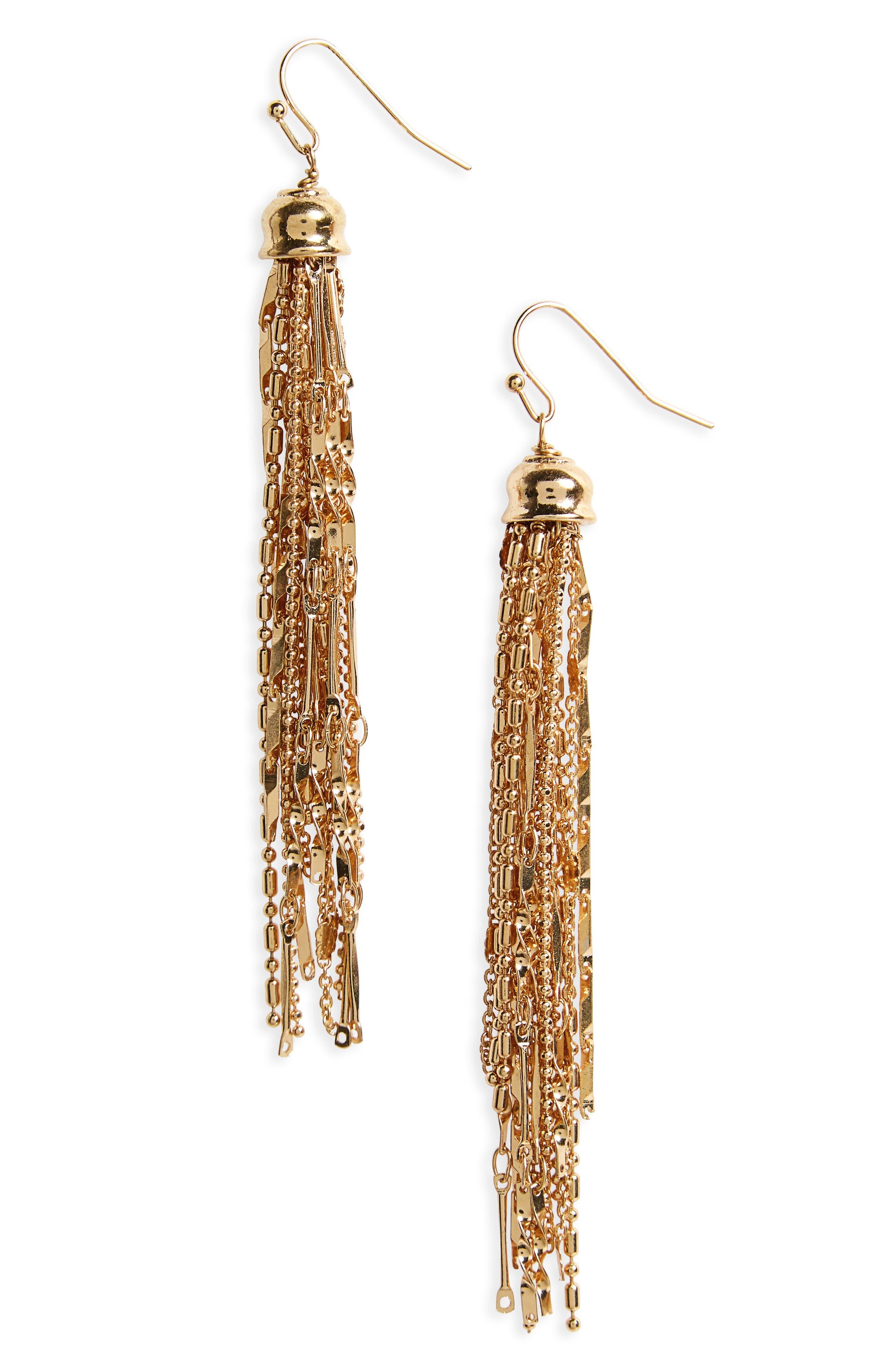 Panacea Chain Tassel Earrings