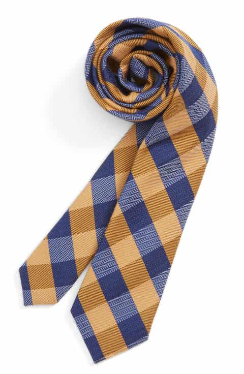 Nordstrom Check Wool   Silk Tie (Big Boys)