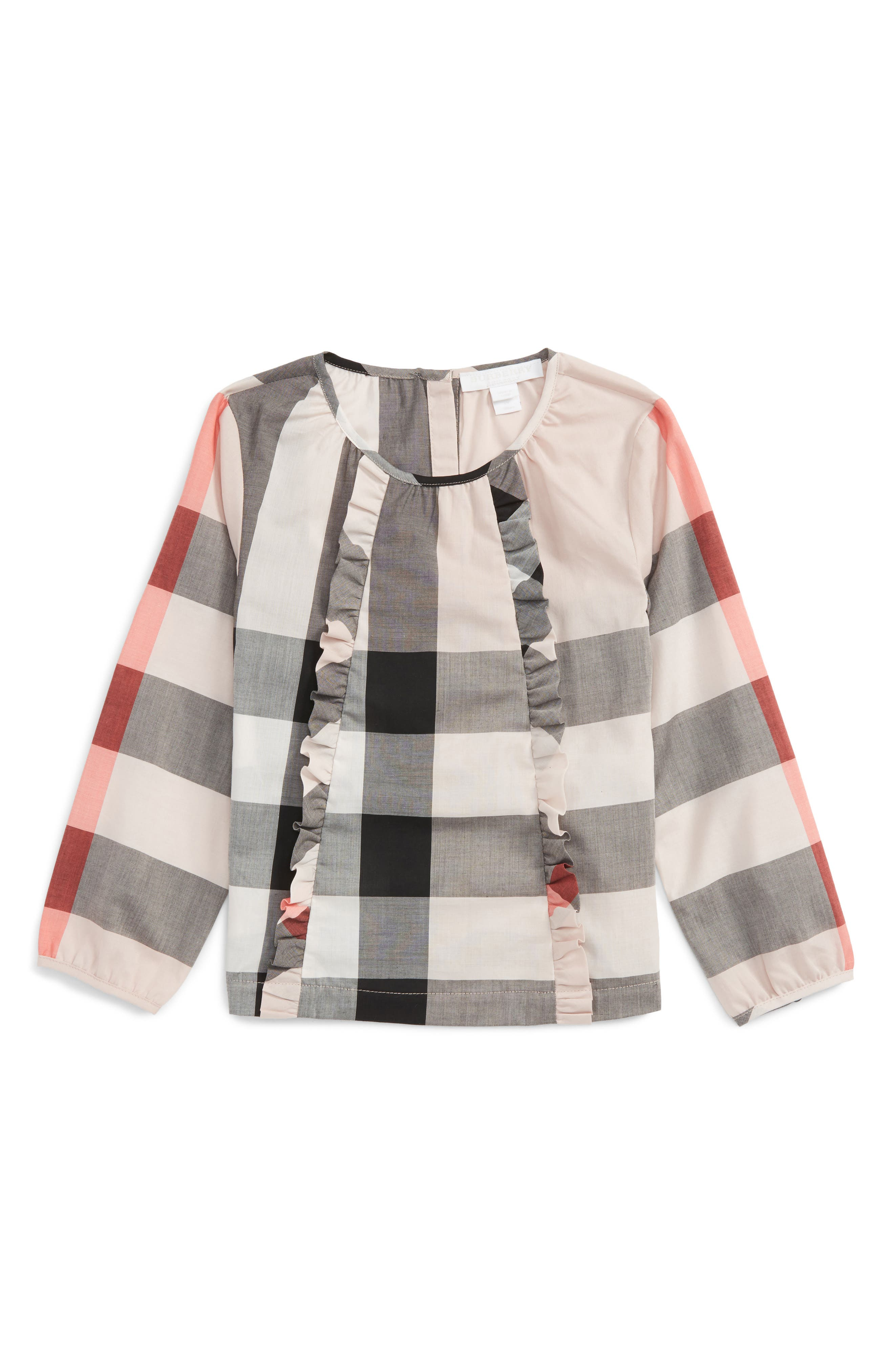 Burberry Mini Aggatha Check Ruffle Top (Baby Girls)