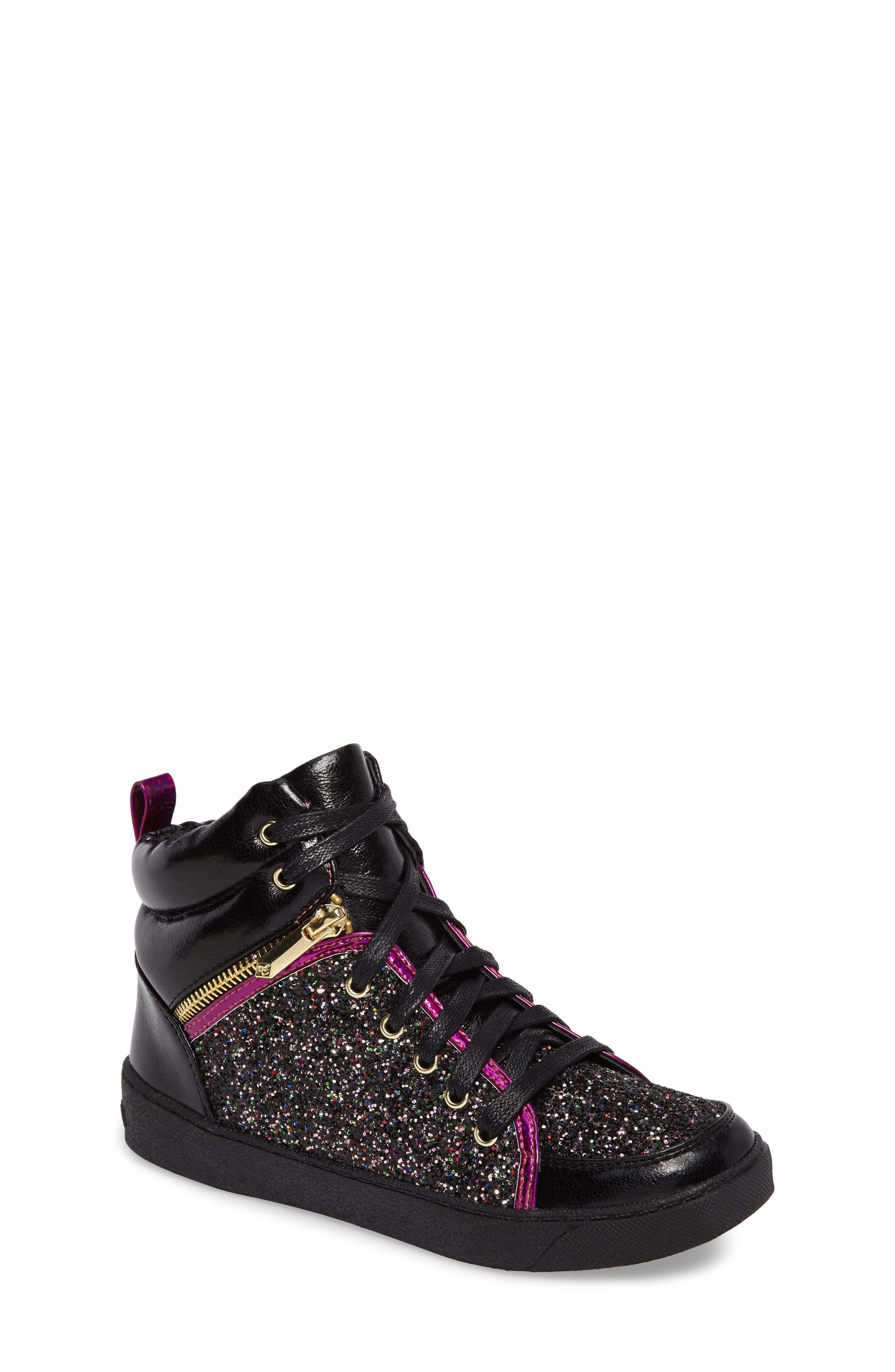 Sam Edelman Britt Remy Glitter High Top Sneaker (Toddler, Little Kid & Big Kid)