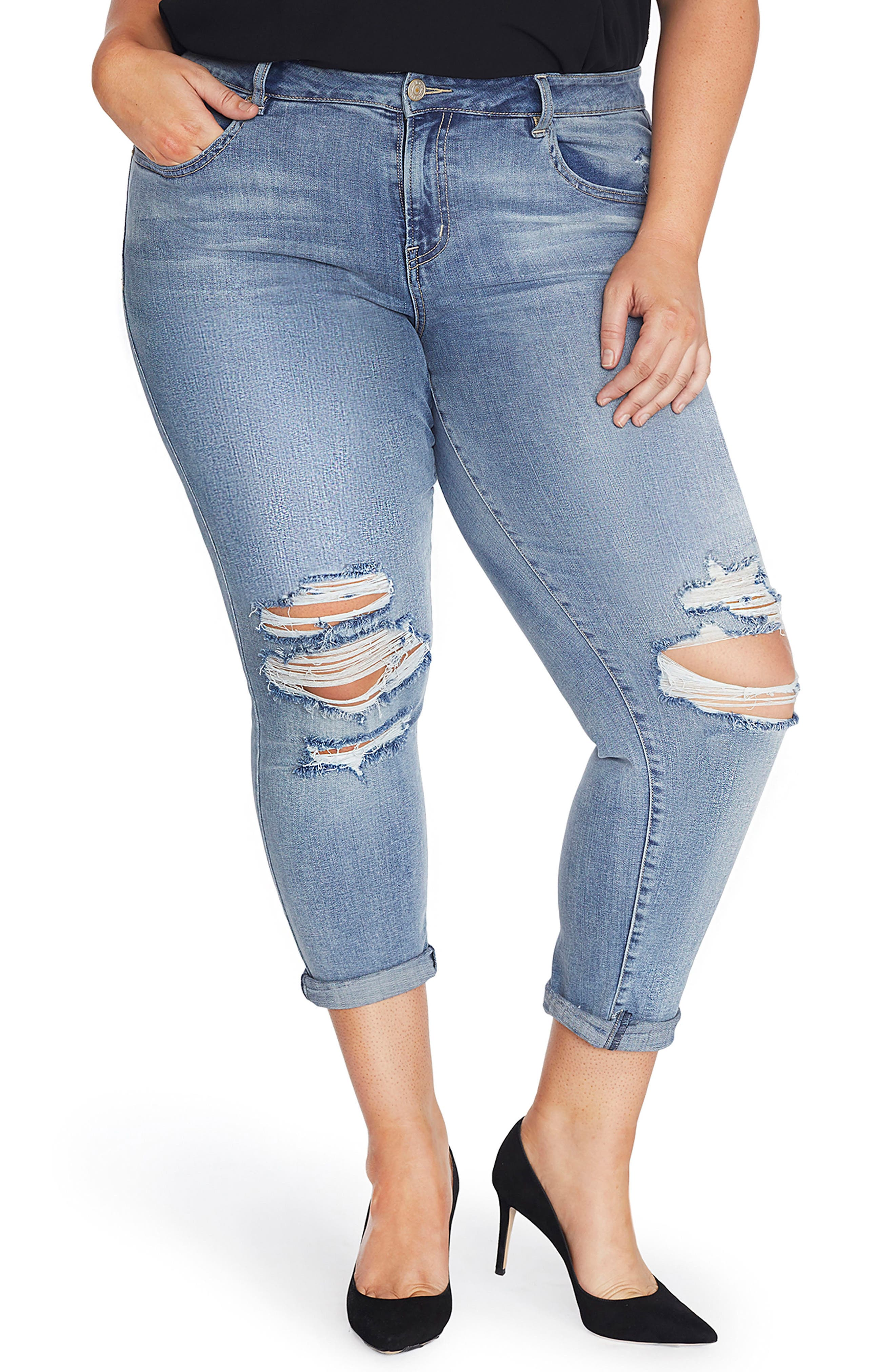 REBEL WILSON X ANGELS The Ryot Slim Boyfriend Jeans (Plus Size)