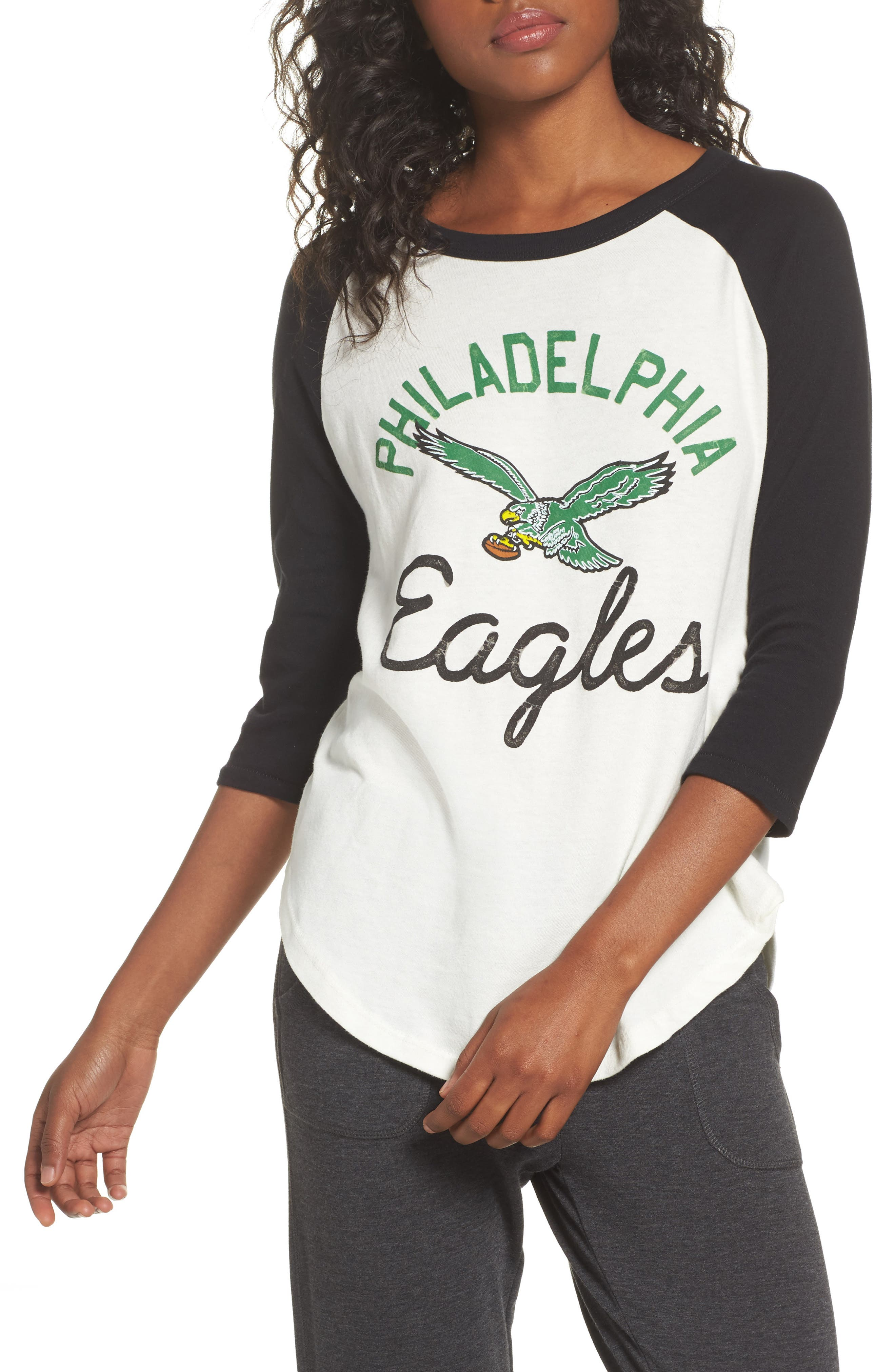 Junk Food NFL Philadelphia Eagles Raglan Tee