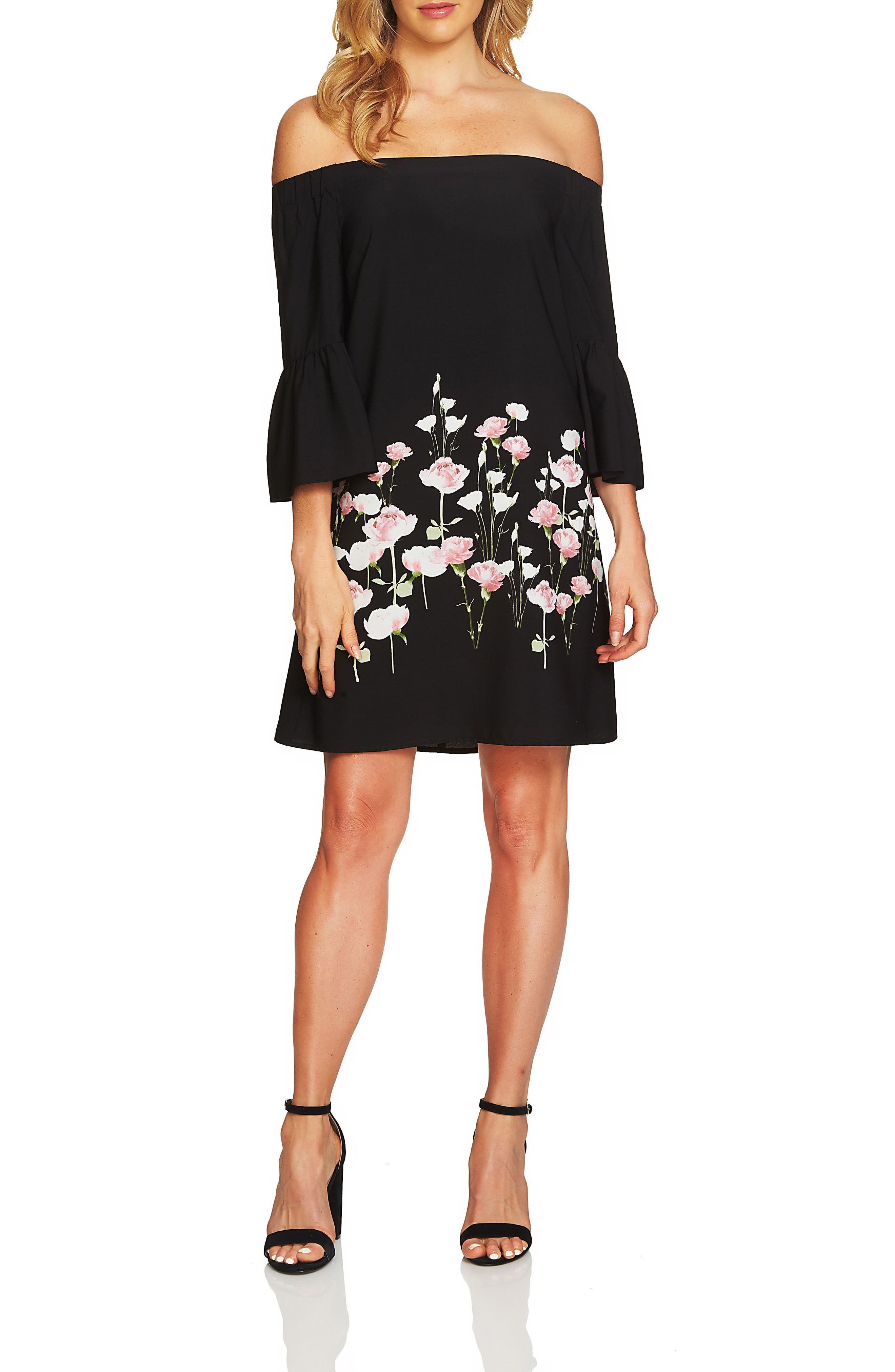 Cece Evelyn Off the Shoulder Shift Dress