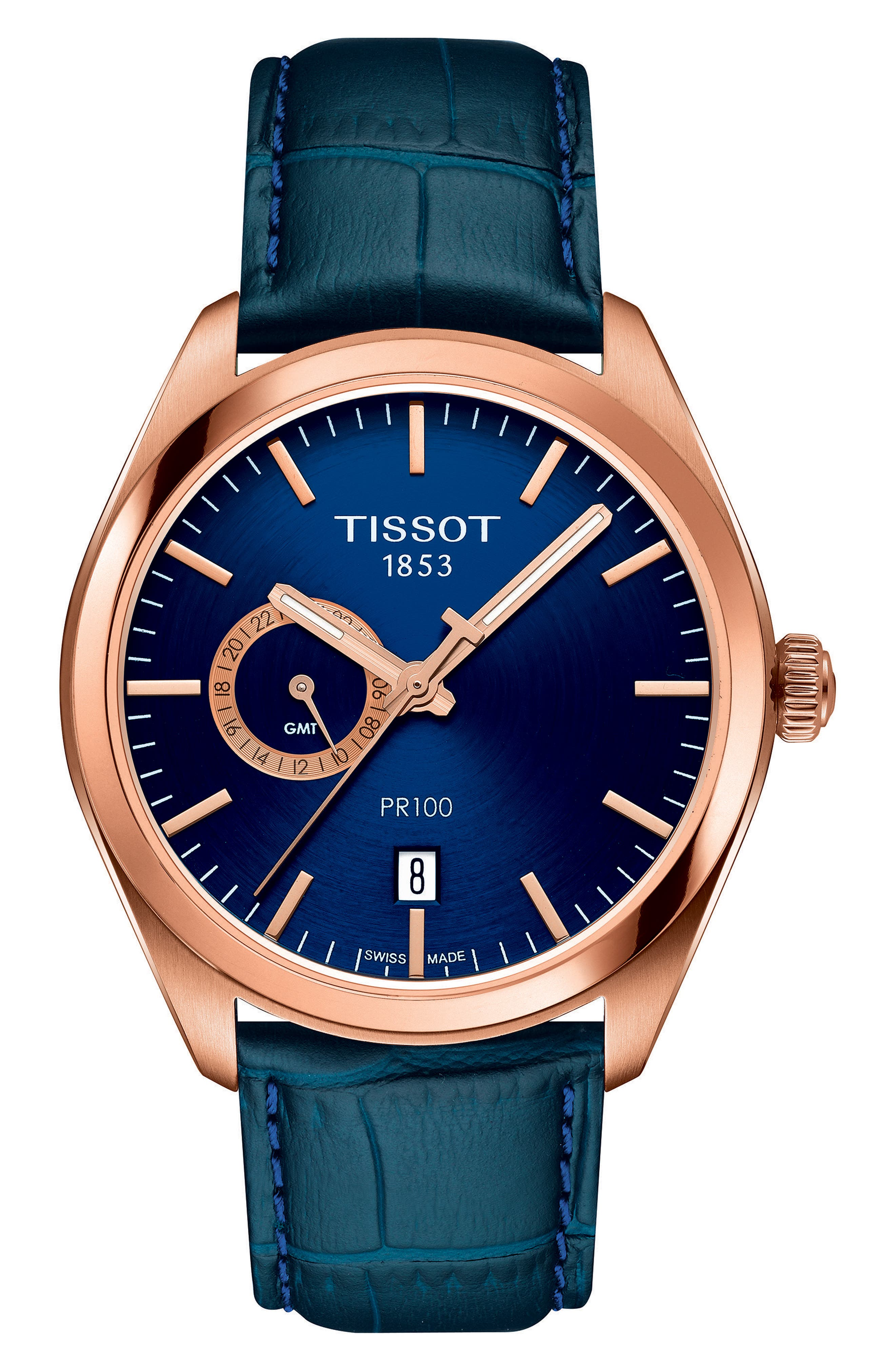 Tissot PR100 Leather Strap Watch, 39mm