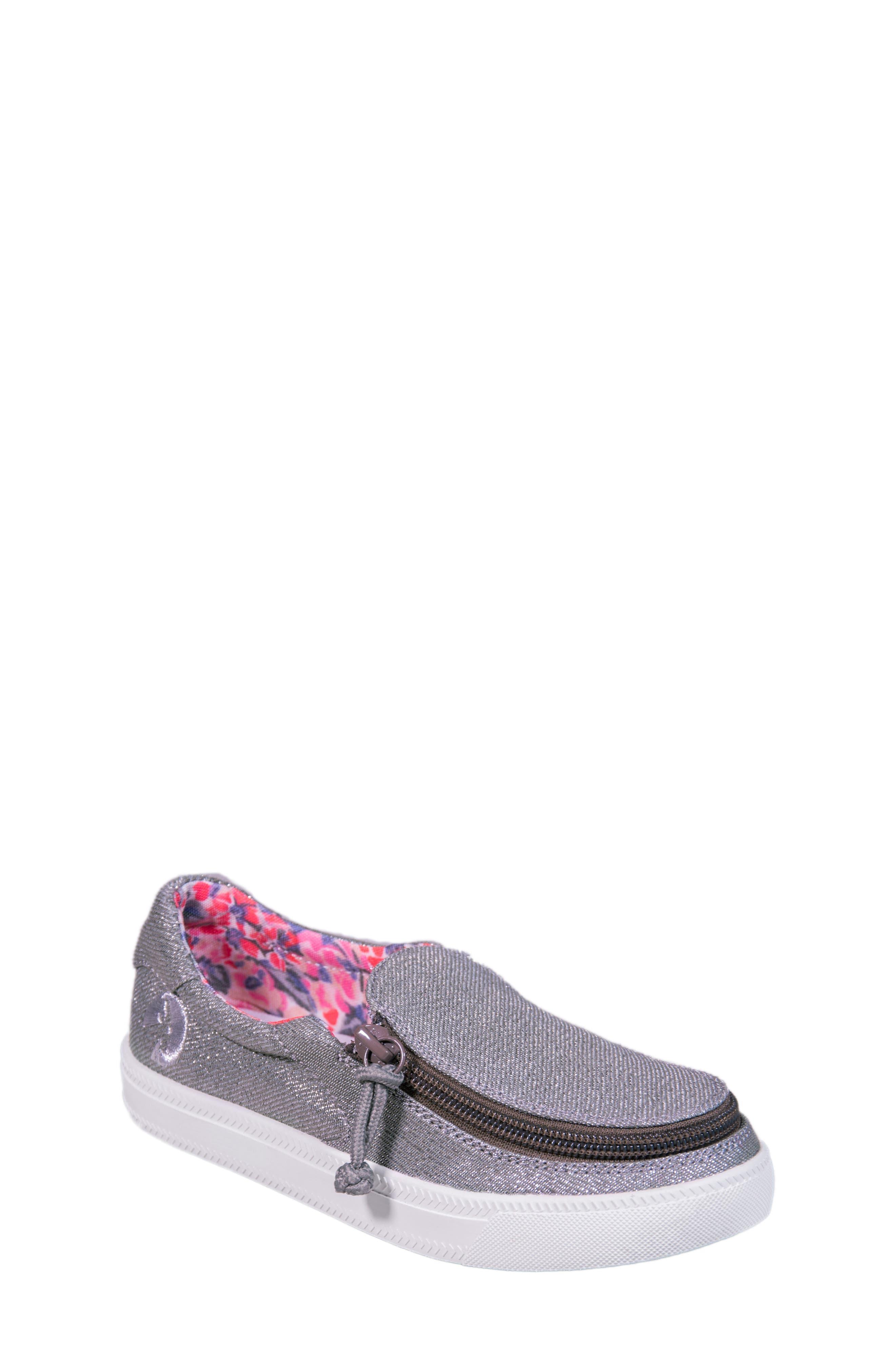 BILLY Footwear Zip Around Sparkly Low Top Sneaker (Toddler, Little Kid & Big Kid)