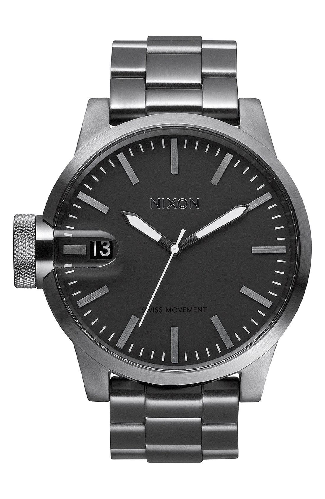 Main Image - Nixon 'The Chronicle' Stainless Steel Watch, 48mm