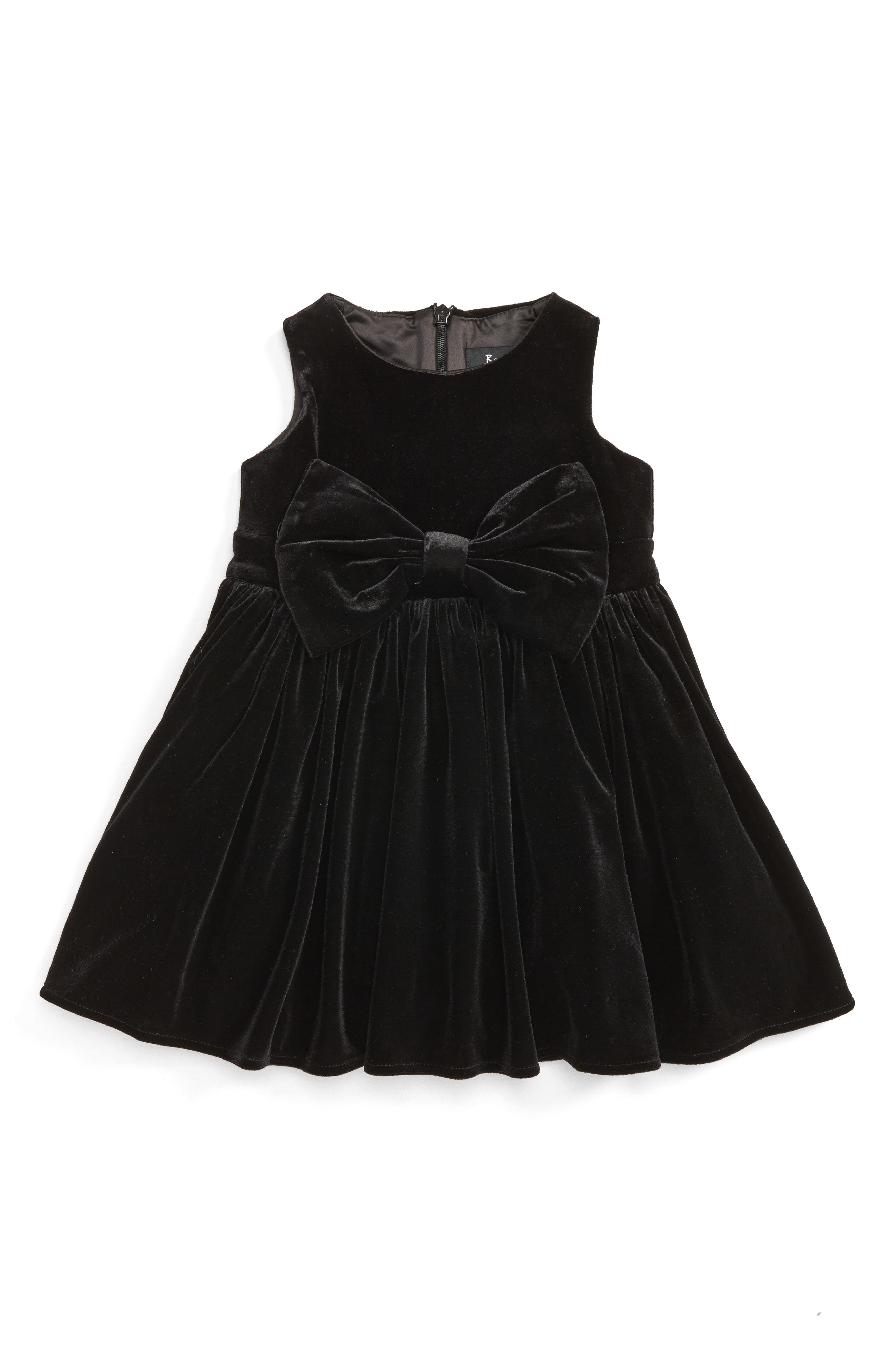 Bardot Junior Sleeveless Velour Dress (Baby Girls)