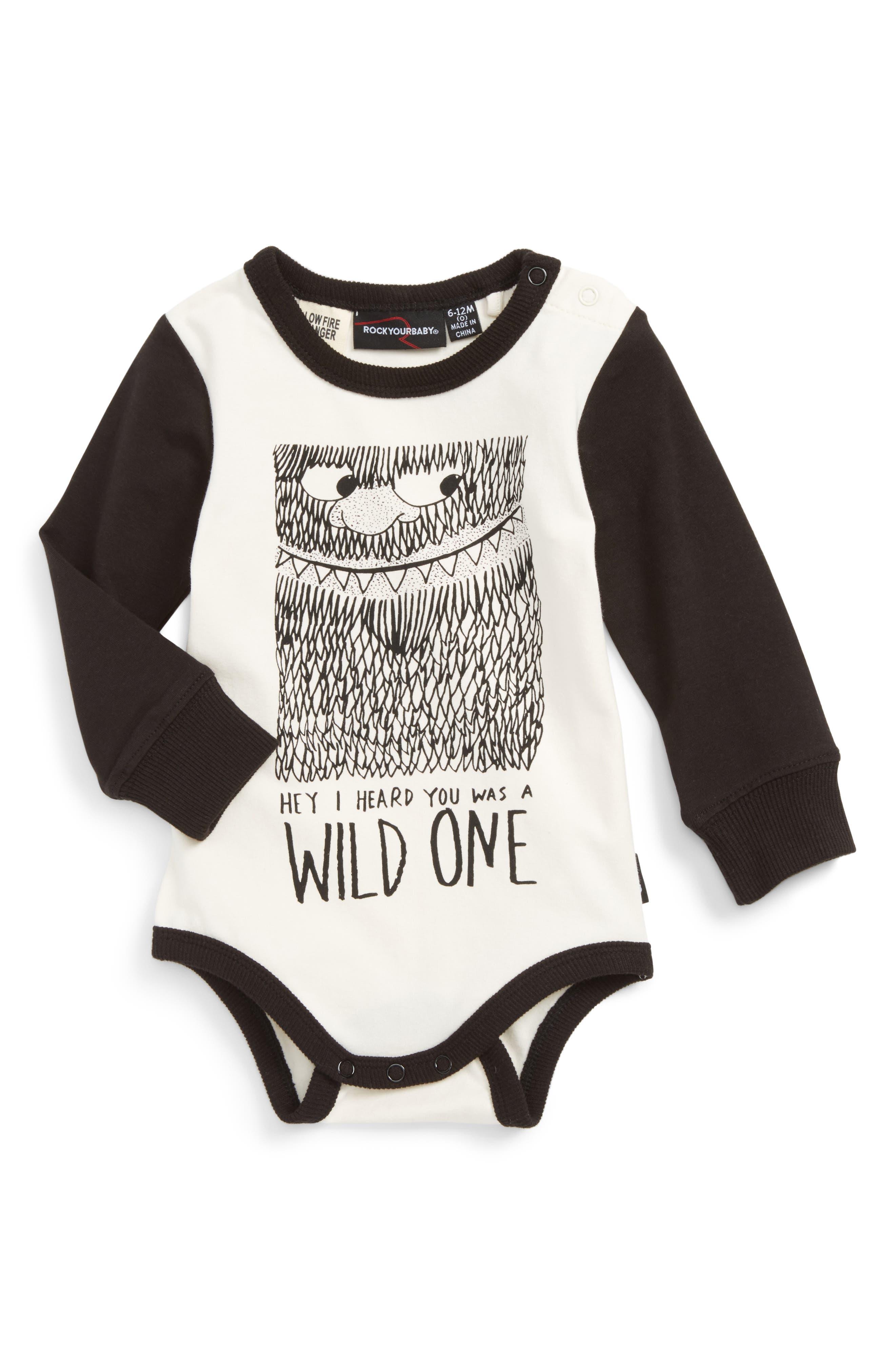 Rock Your Baby Wild One Bodysuit (Baby Boys)