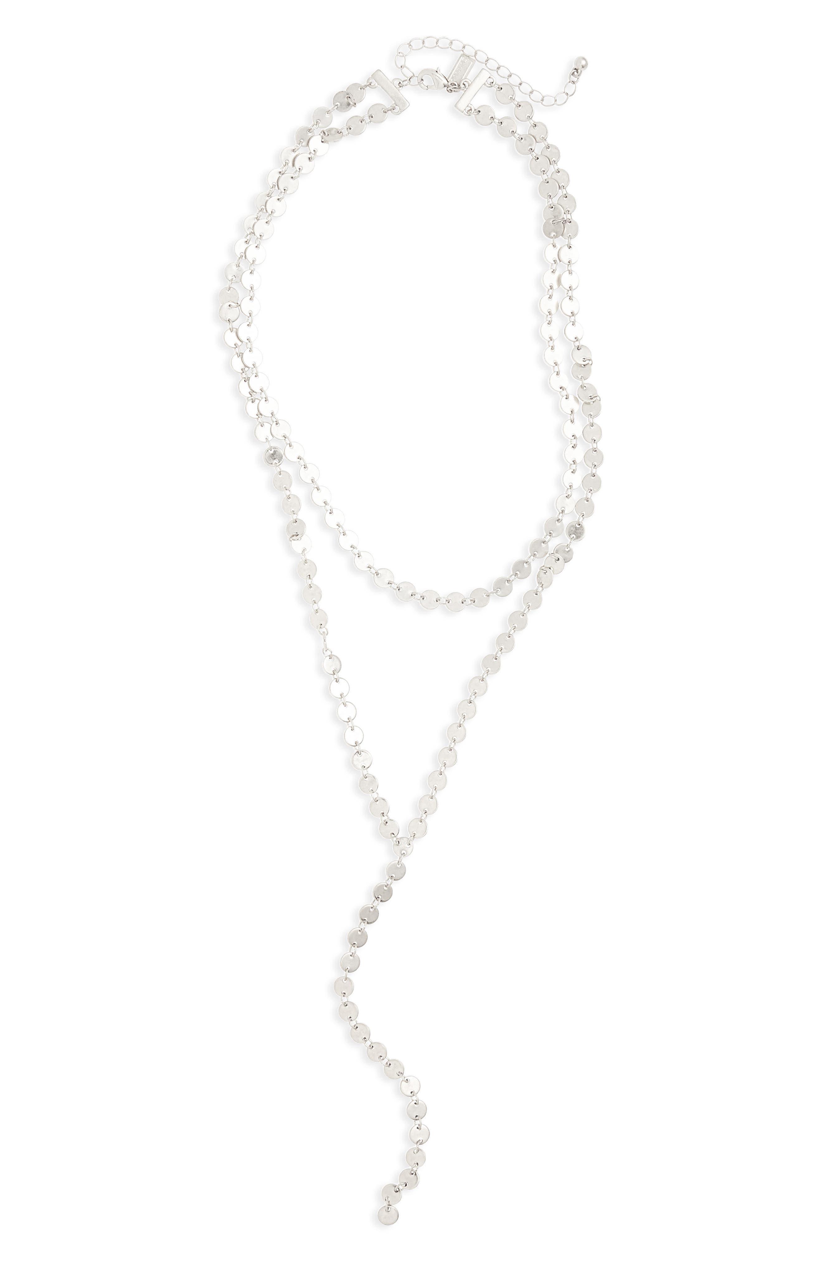 Canvas Tiered Y-Necklace