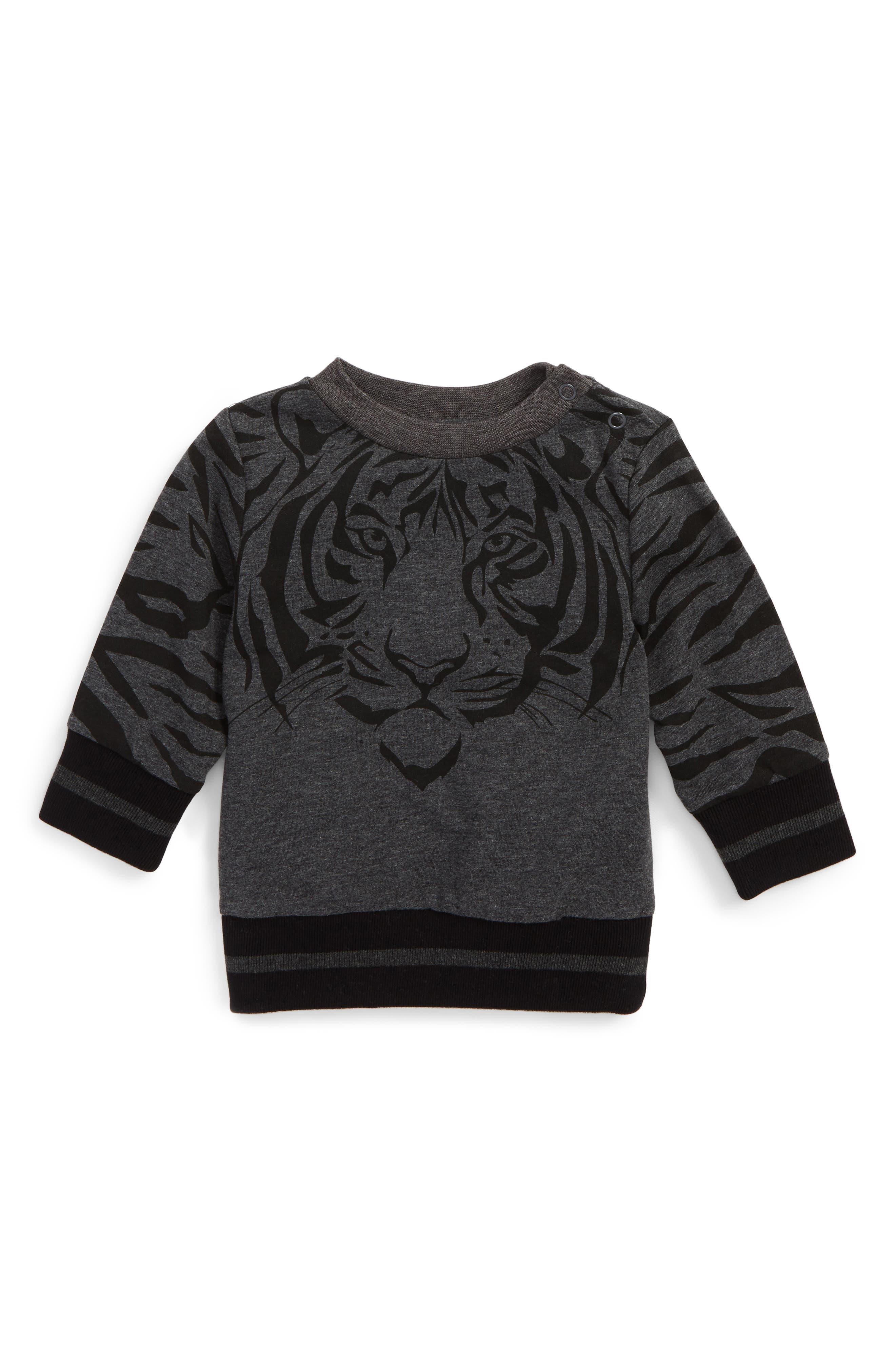 Bardot Junior Le Tigre Crewneck Pullover (Baby Boys & Toddler Boys)